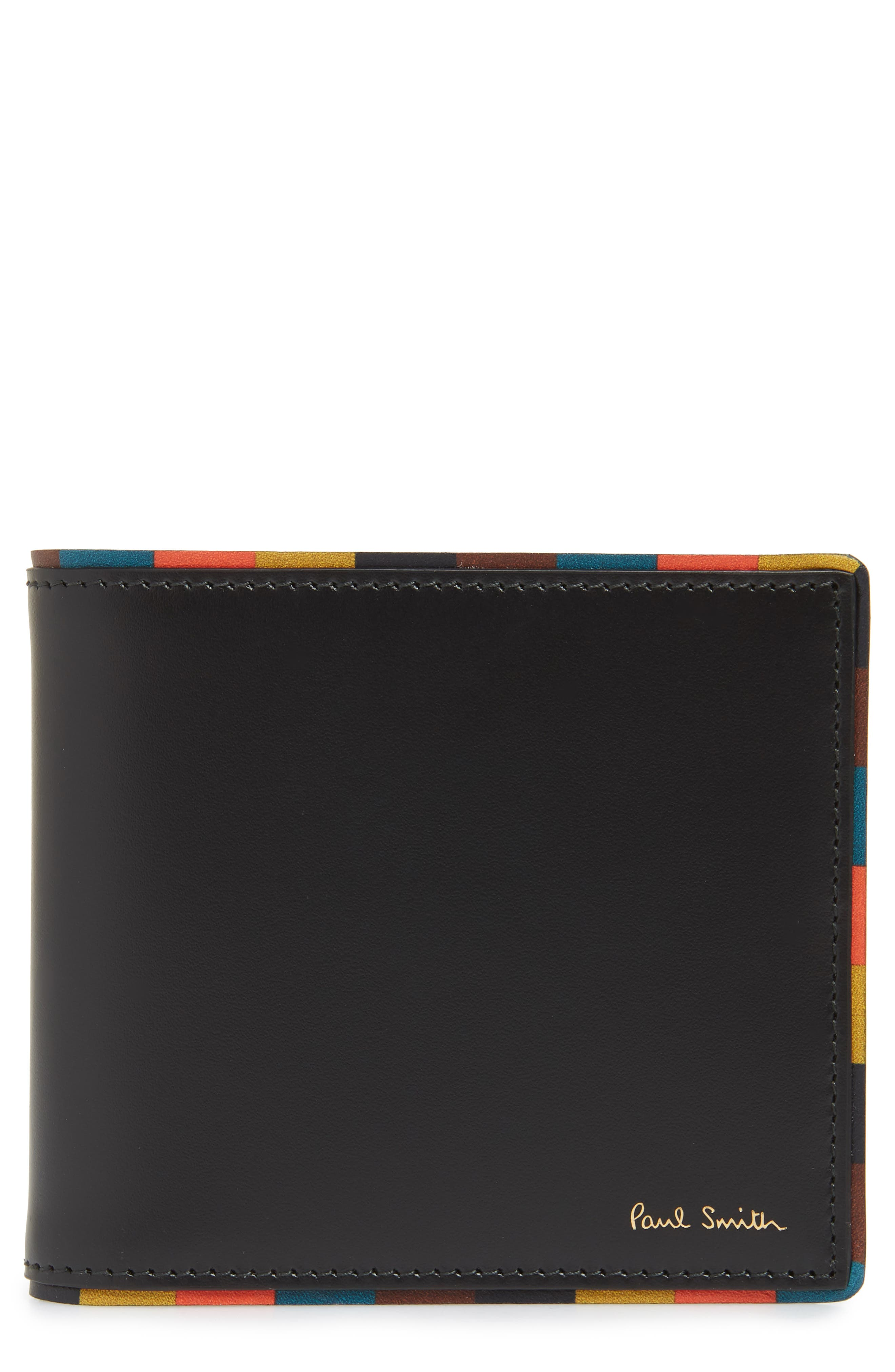 PAUL SMITH Leather Billfold Wallet, Main, color, 001