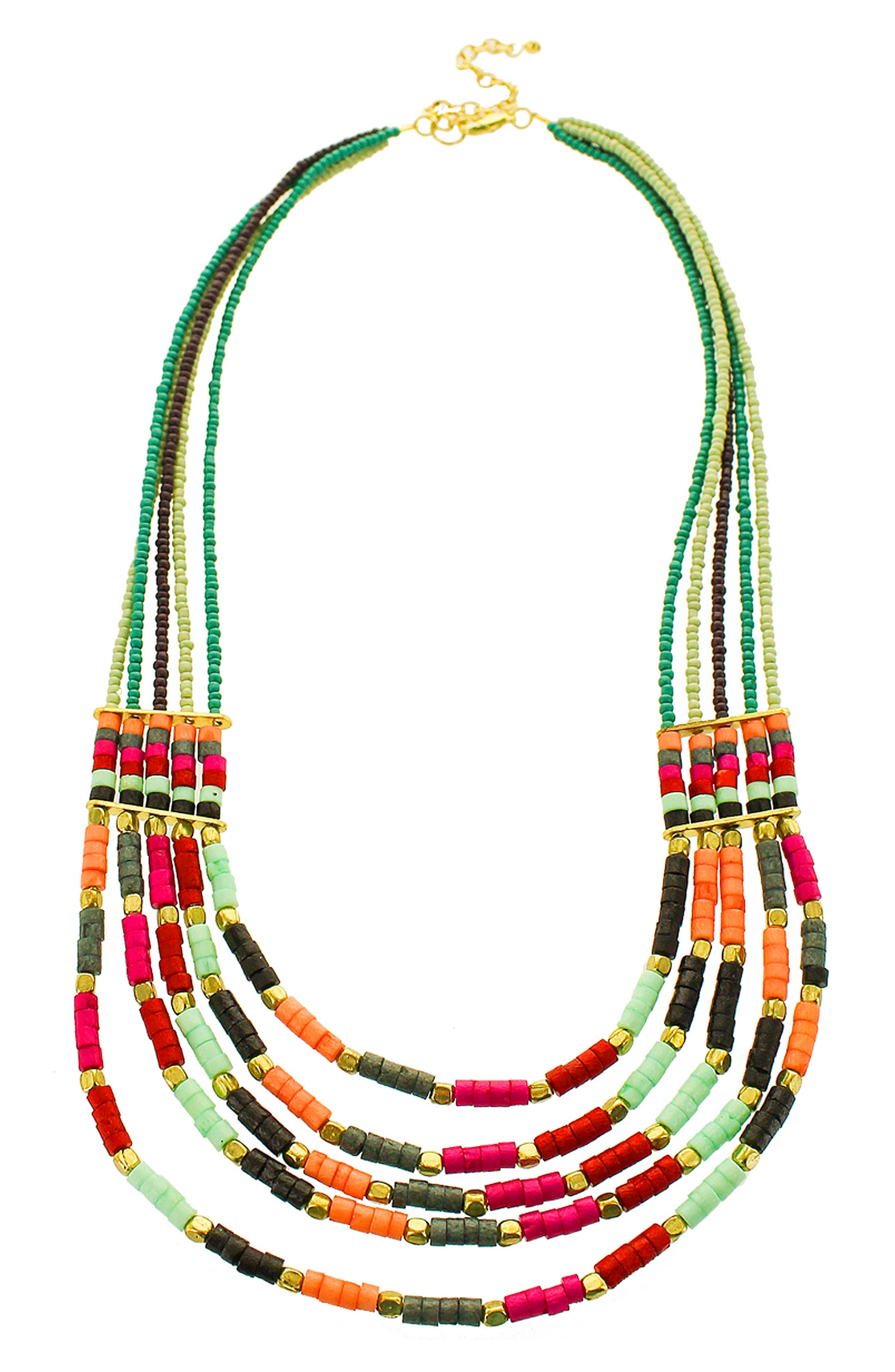 Multistrand Seed Bead Necklace,                         Main,                         color, 300