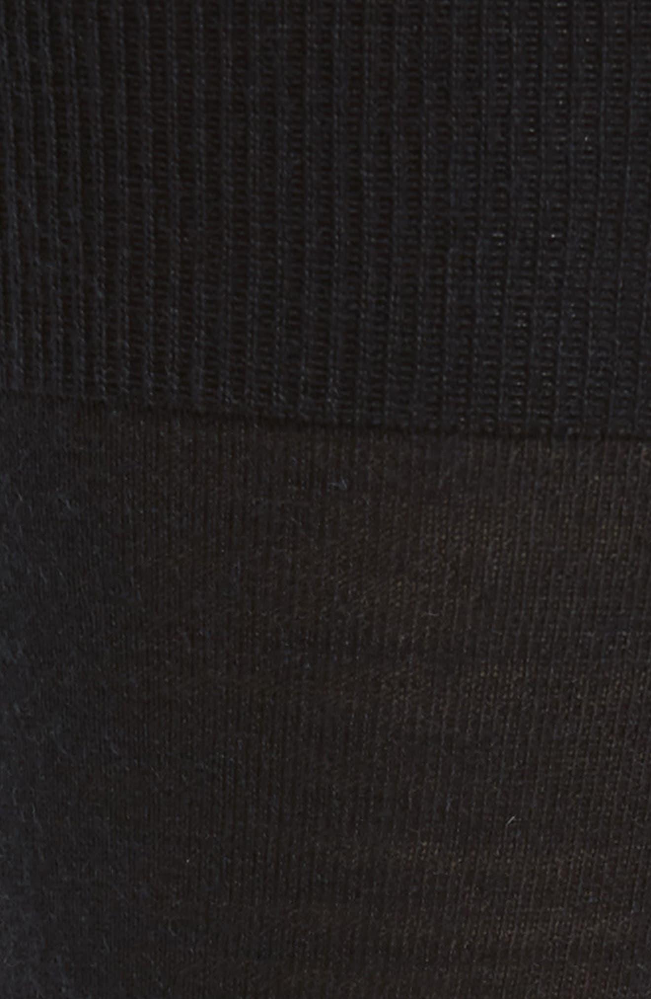 FALKE,                             No. 6 Merino Wool Blend Socks,                             Alternate thumbnail 2, color,                             BLACK