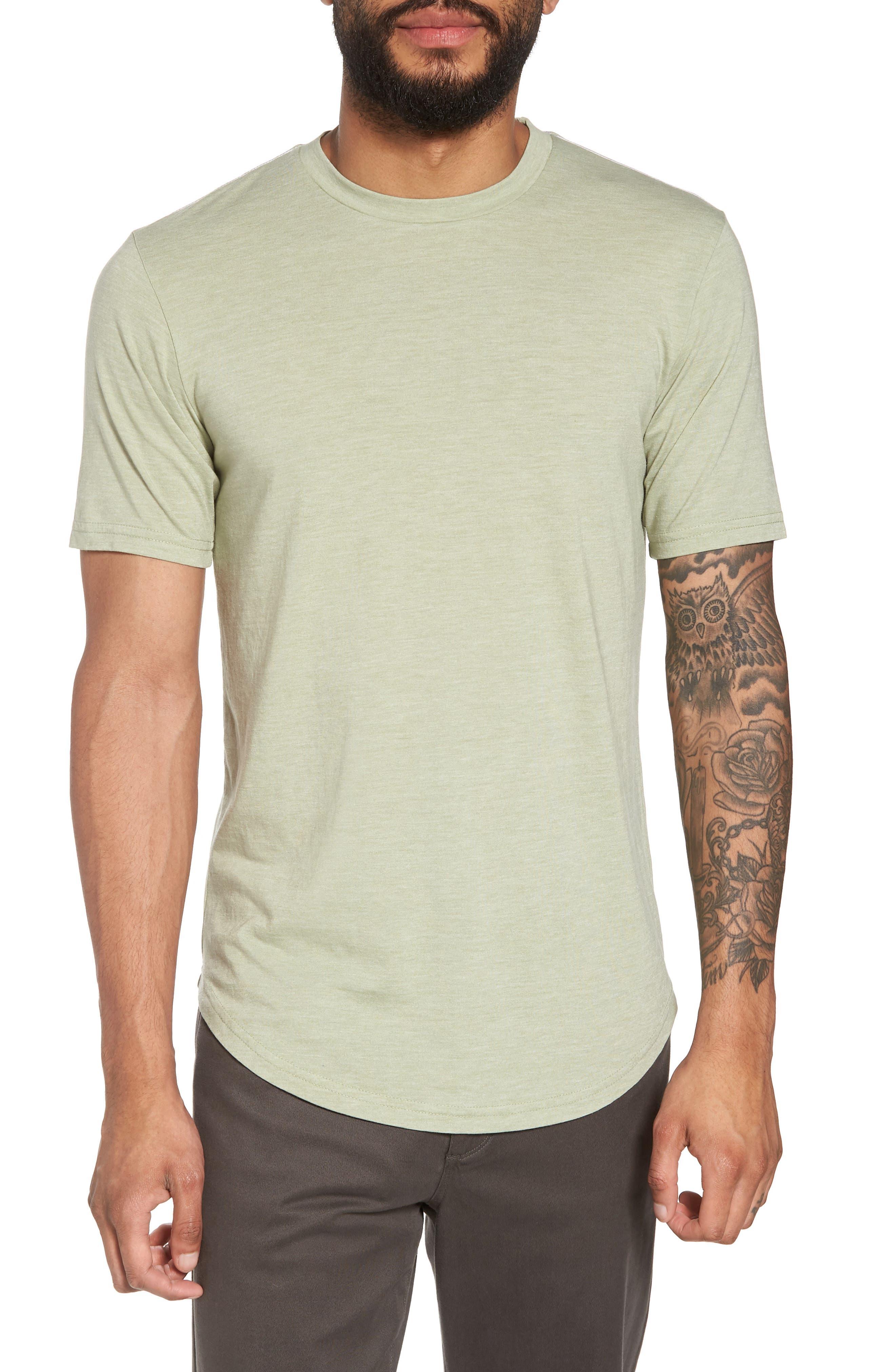 Scallop Triblend Crewneck T-Shirt,                             Main thumbnail 5, color,