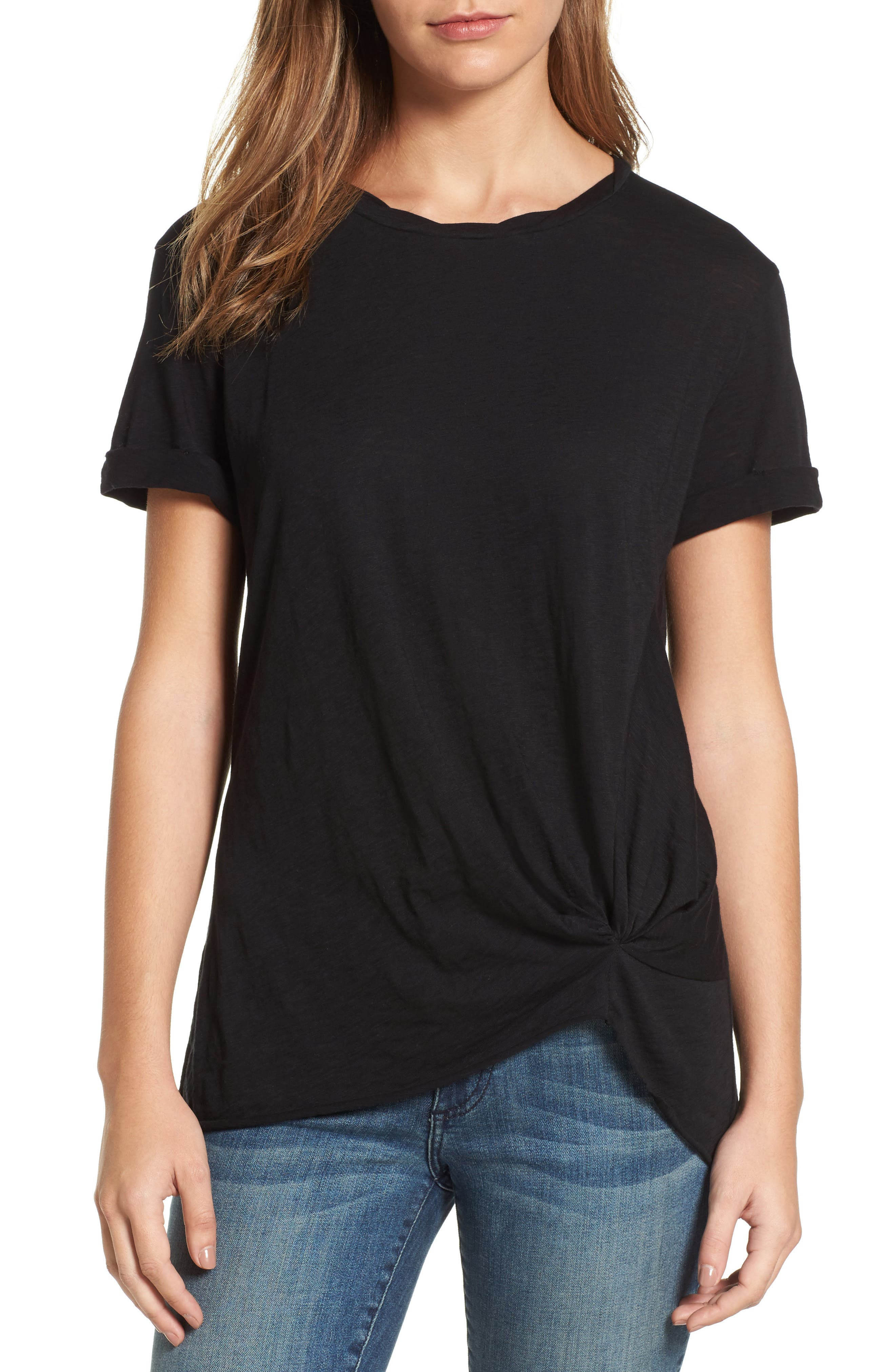 Knotted Tee,                             Main thumbnail 5, color,