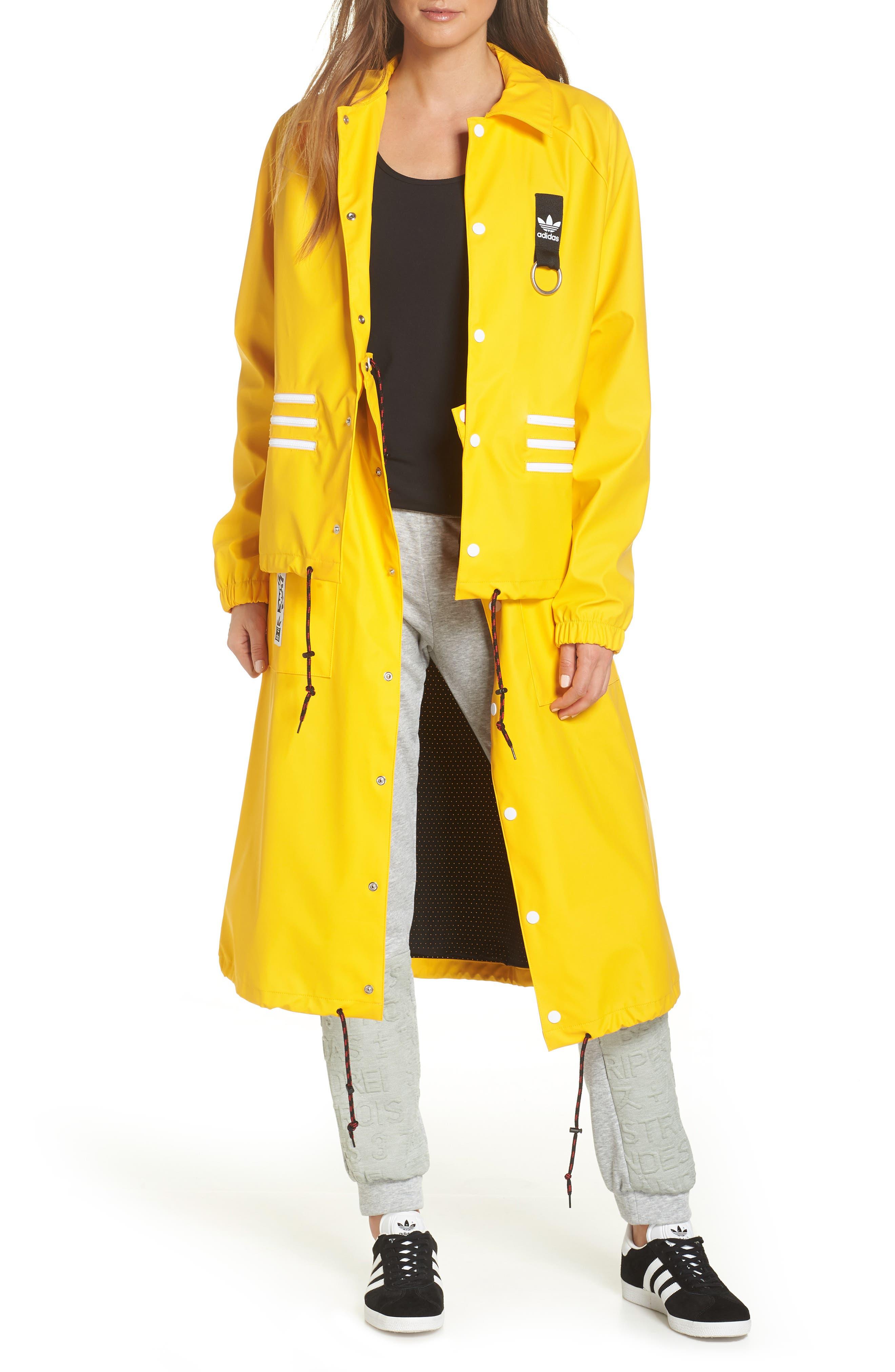 Adidas Originals X Olivia Oblanc Convertible Trench Coat, Yellow
