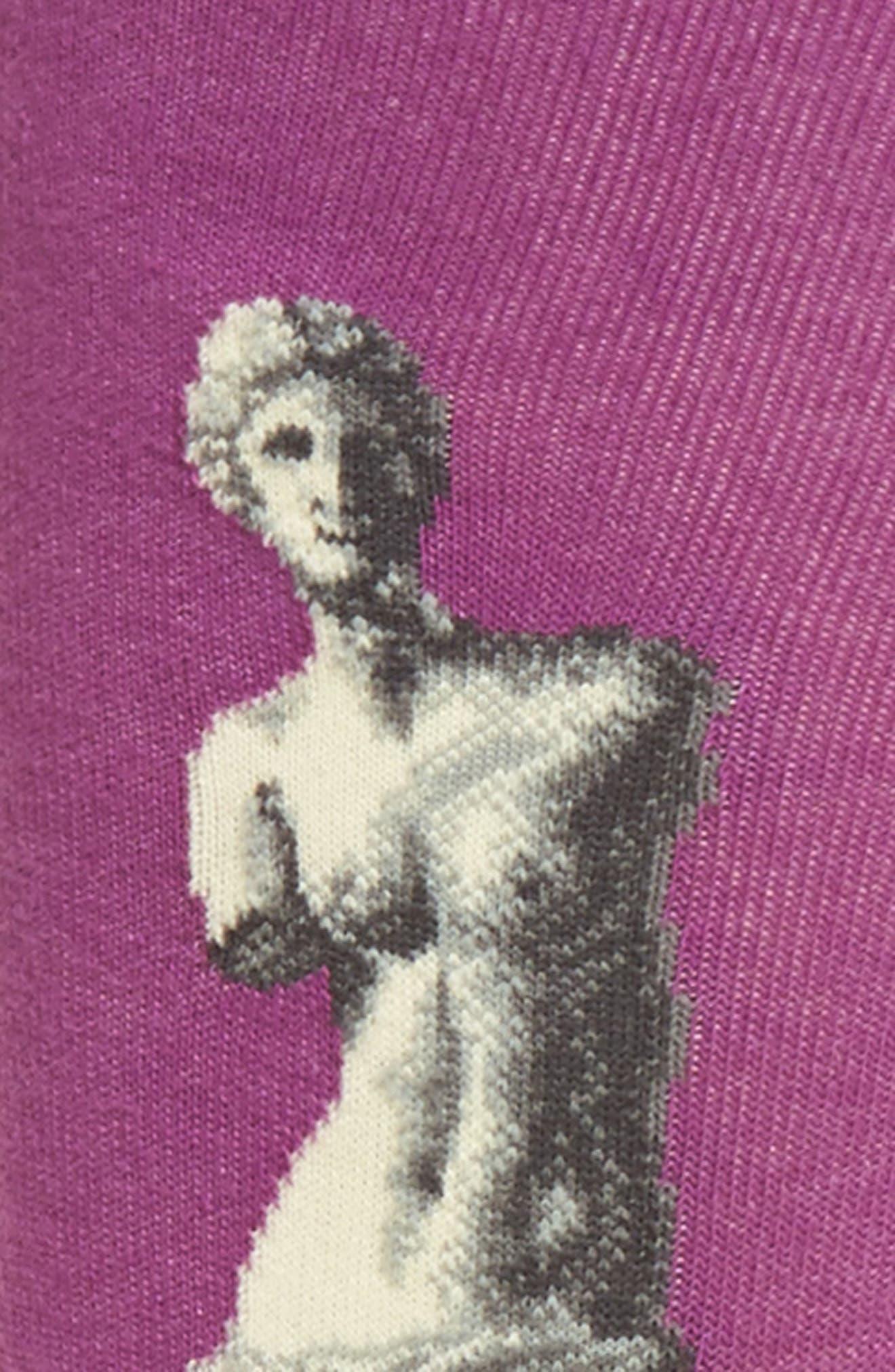 Venus de Milo Crew Socks,                             Alternate thumbnail 4, color,