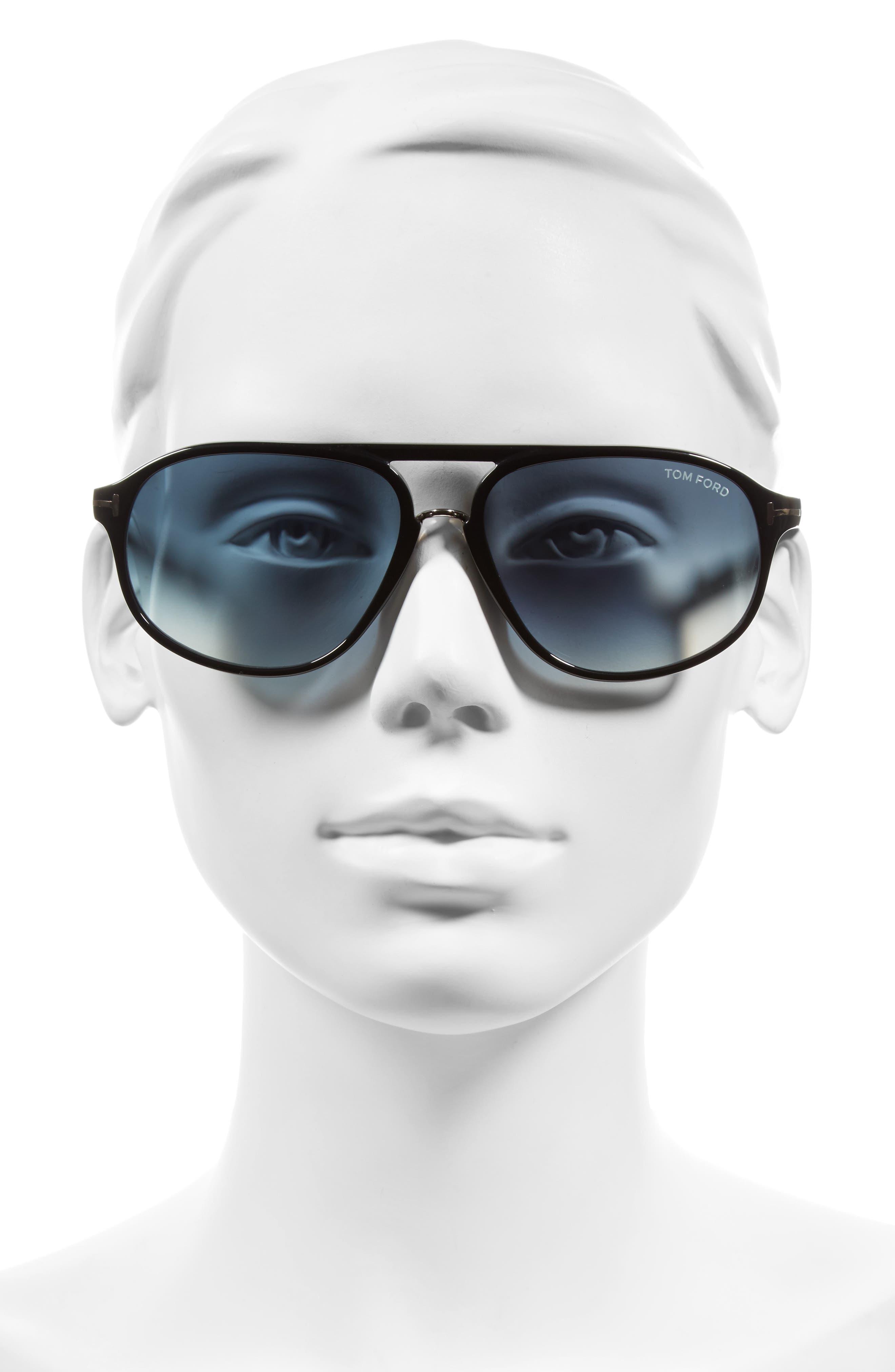 Jacob 60mm Retro Sunglasses,                             Alternate thumbnail 2, color,                             001