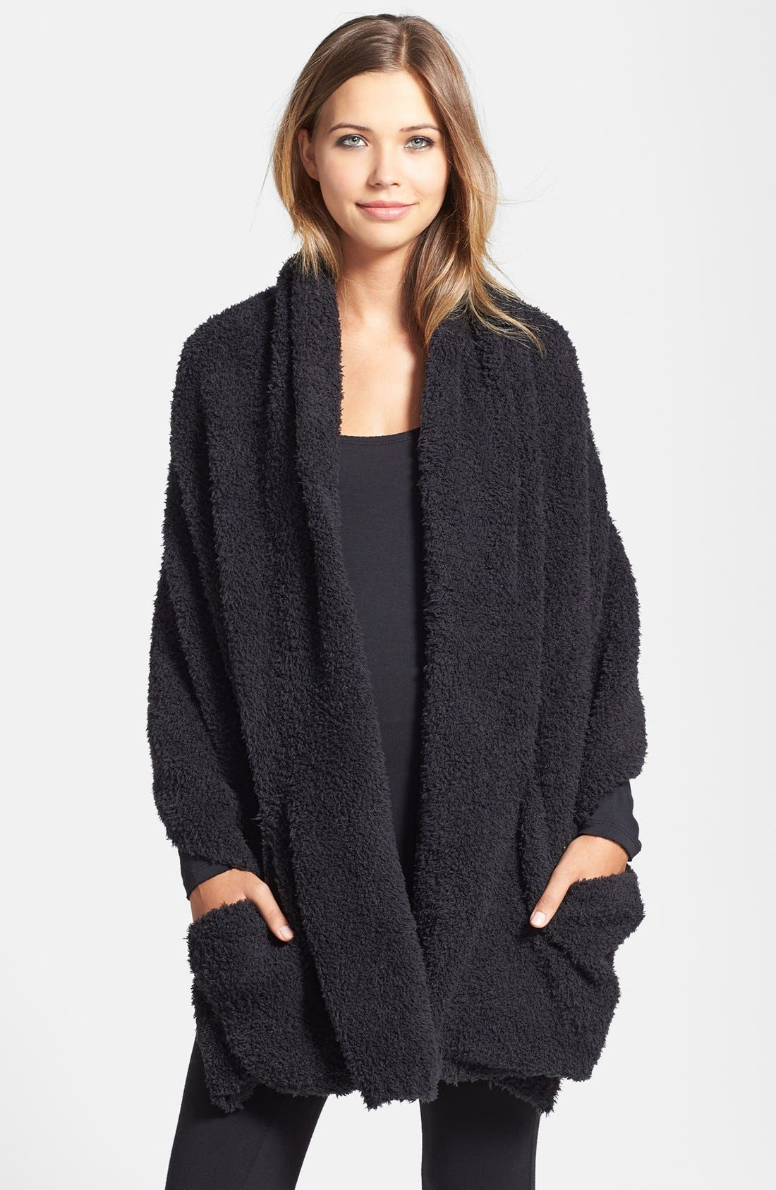 CozyChic<sup>®</sup> Travel Shawl,                             Alternate thumbnail 6, color,                             BLACK