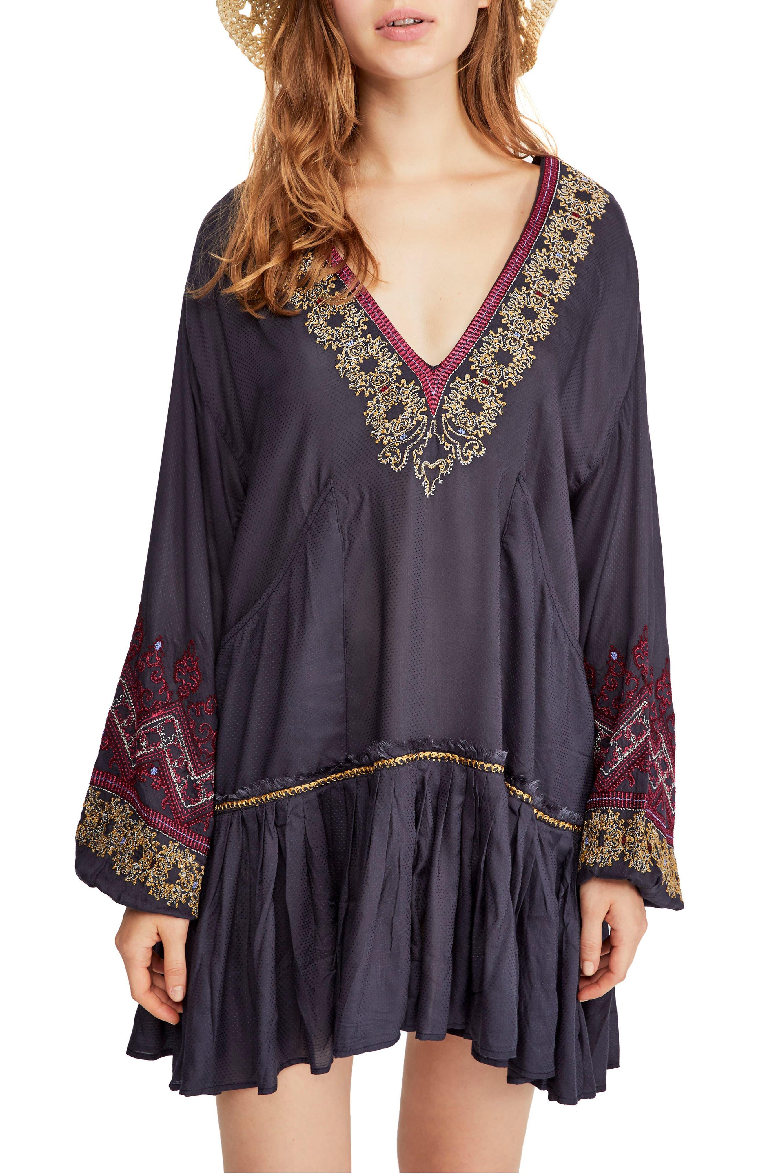 Wild One Embellished Dress, Main, color, BLACK