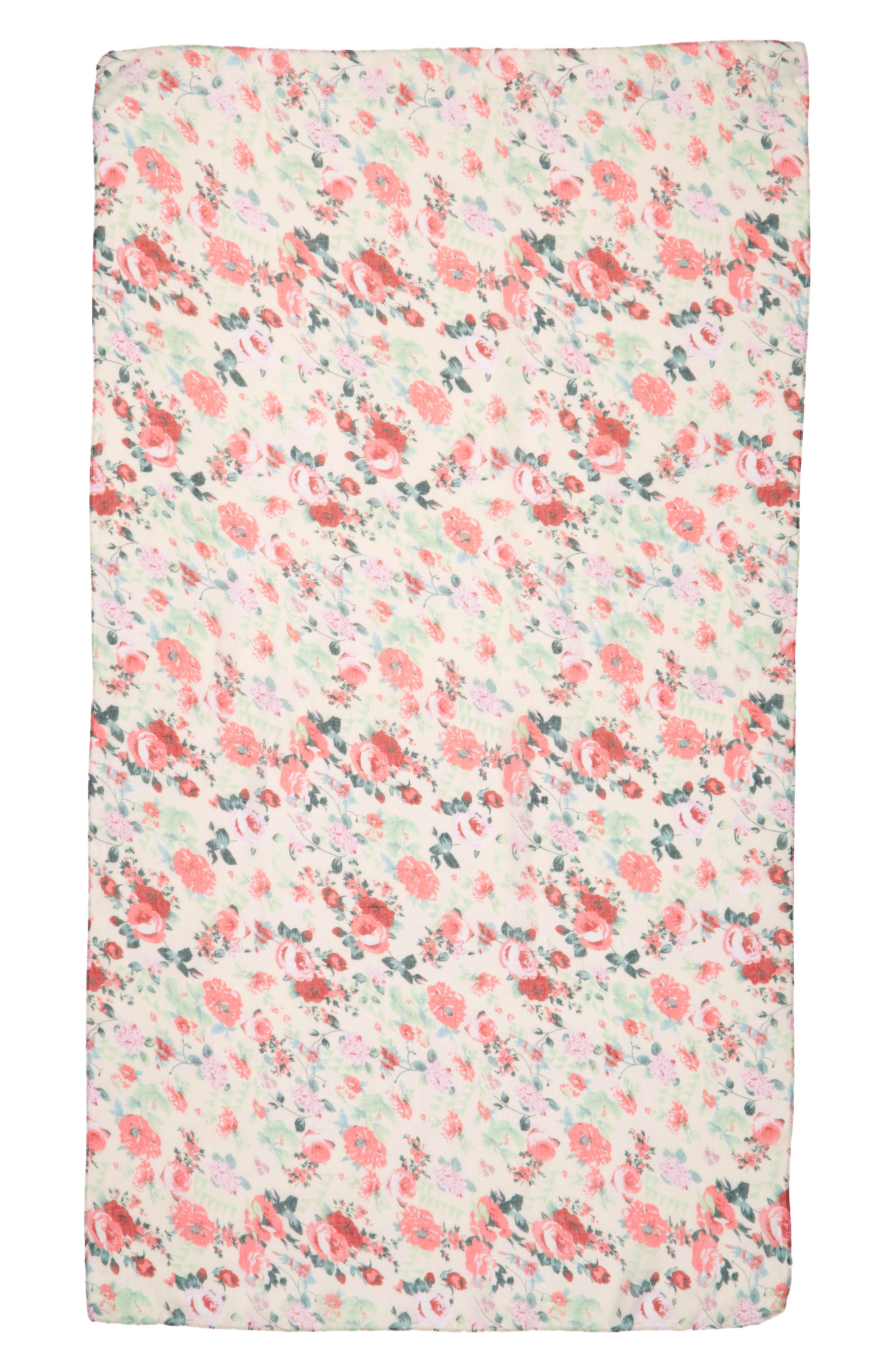 Accessory Collective Floral Print Scarf,                             Alternate thumbnail 2, color,                             100