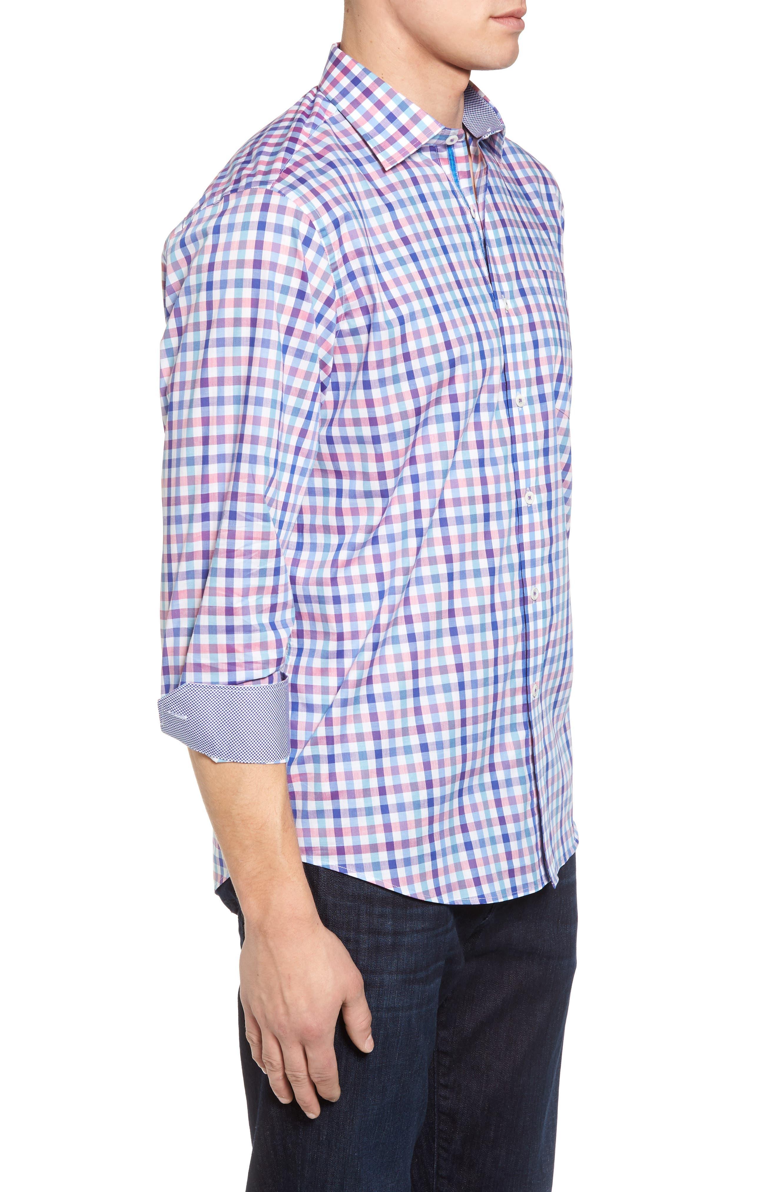 Classic Fit Check Sport Shirt,                             Alternate thumbnail 3, color,                             422