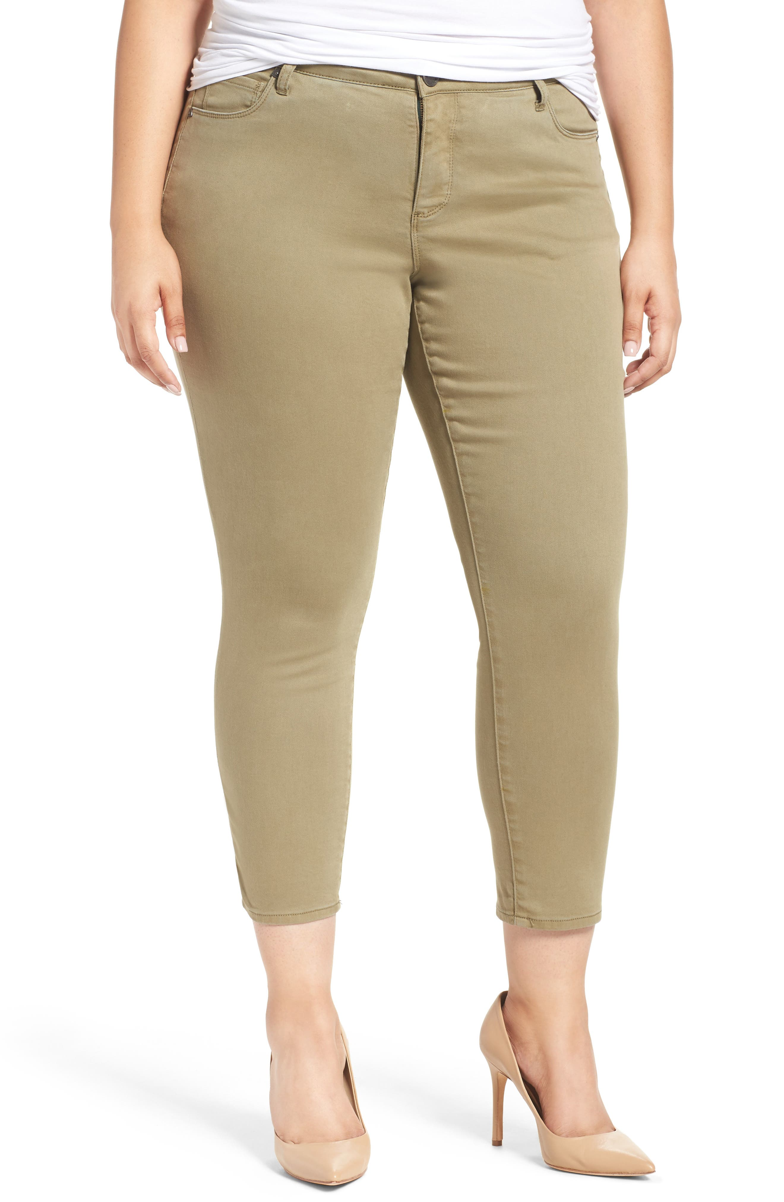 Reese Stretch Ankle Skinny Pants,                         Main,                         color, OLIVE