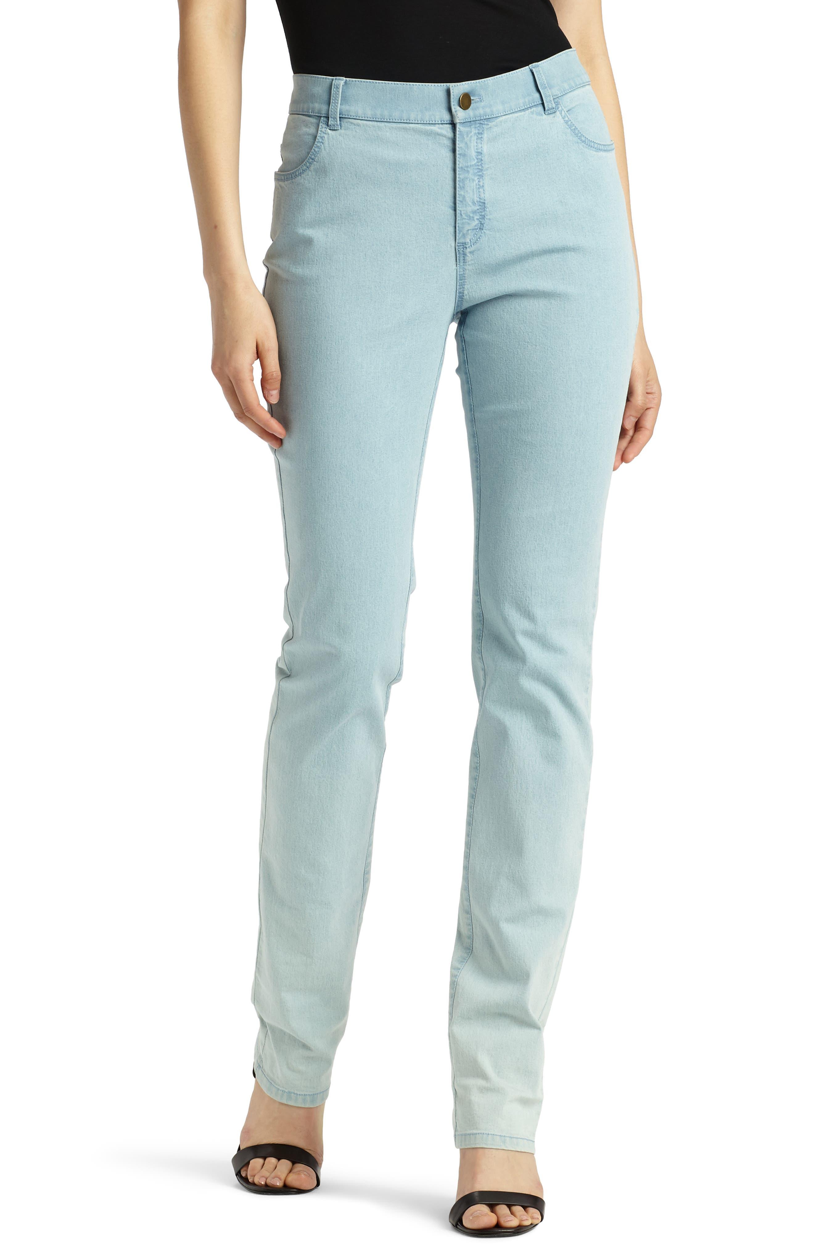 'Primo Denim' Curvy Fit Slim Leg Jeans,                             Alternate thumbnail 2, color,                             PORCELAIN