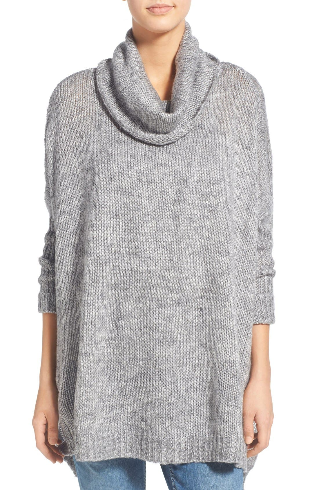 Cowl Neck High/Low Sweater, Main, color, 020