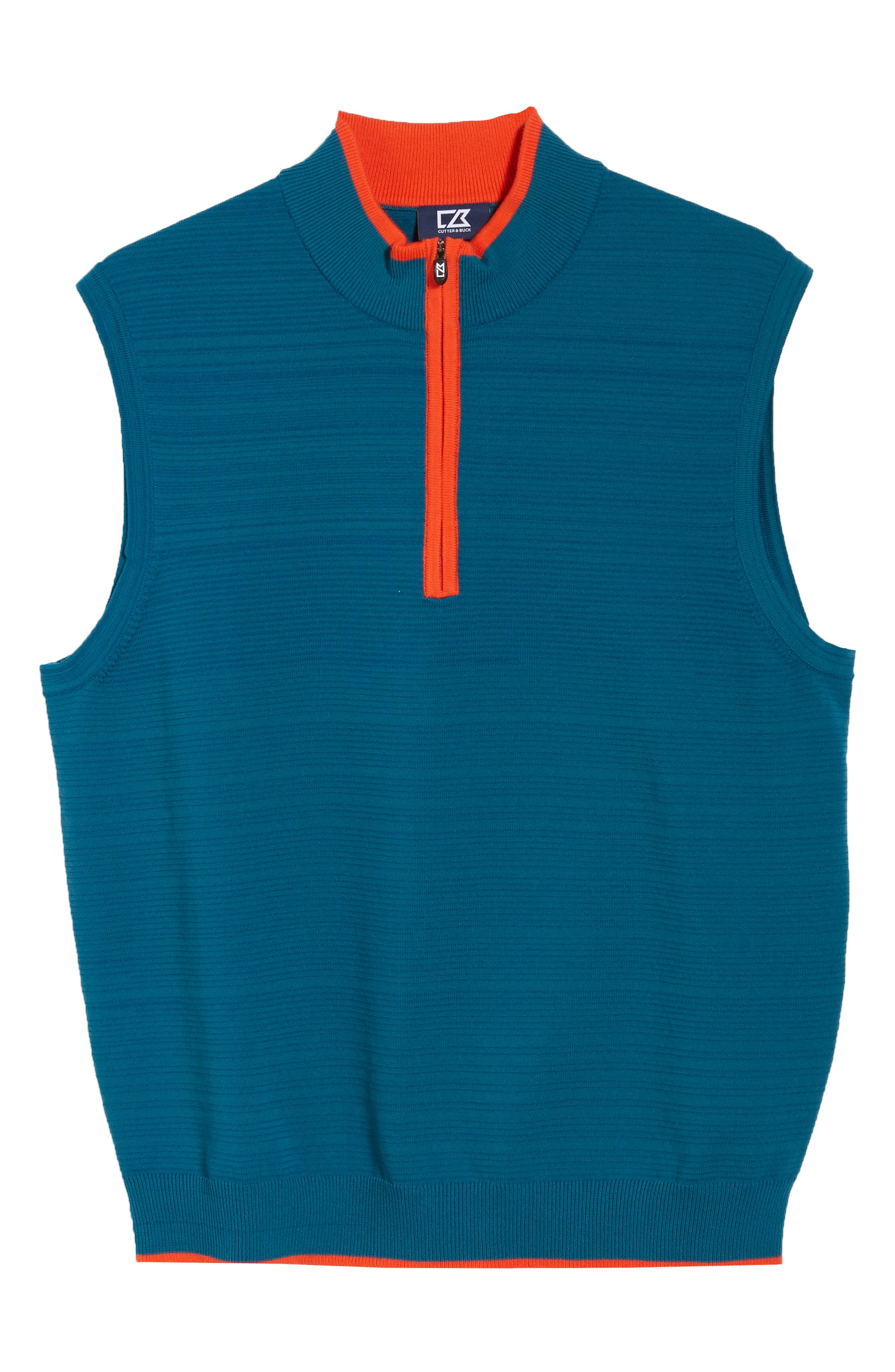 Impact Half Zip Sweater Vest,                             Alternate thumbnail 6, color,                             AQUATIC
