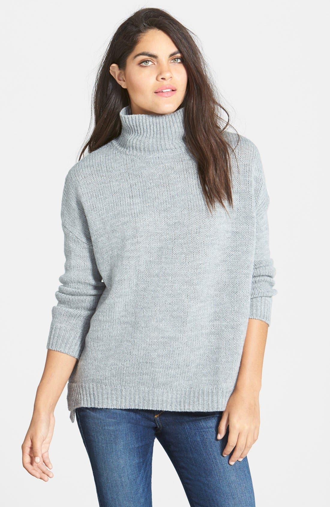 Boyfriend Turtleneck Sweater,                             Main thumbnail 1, color,                             020