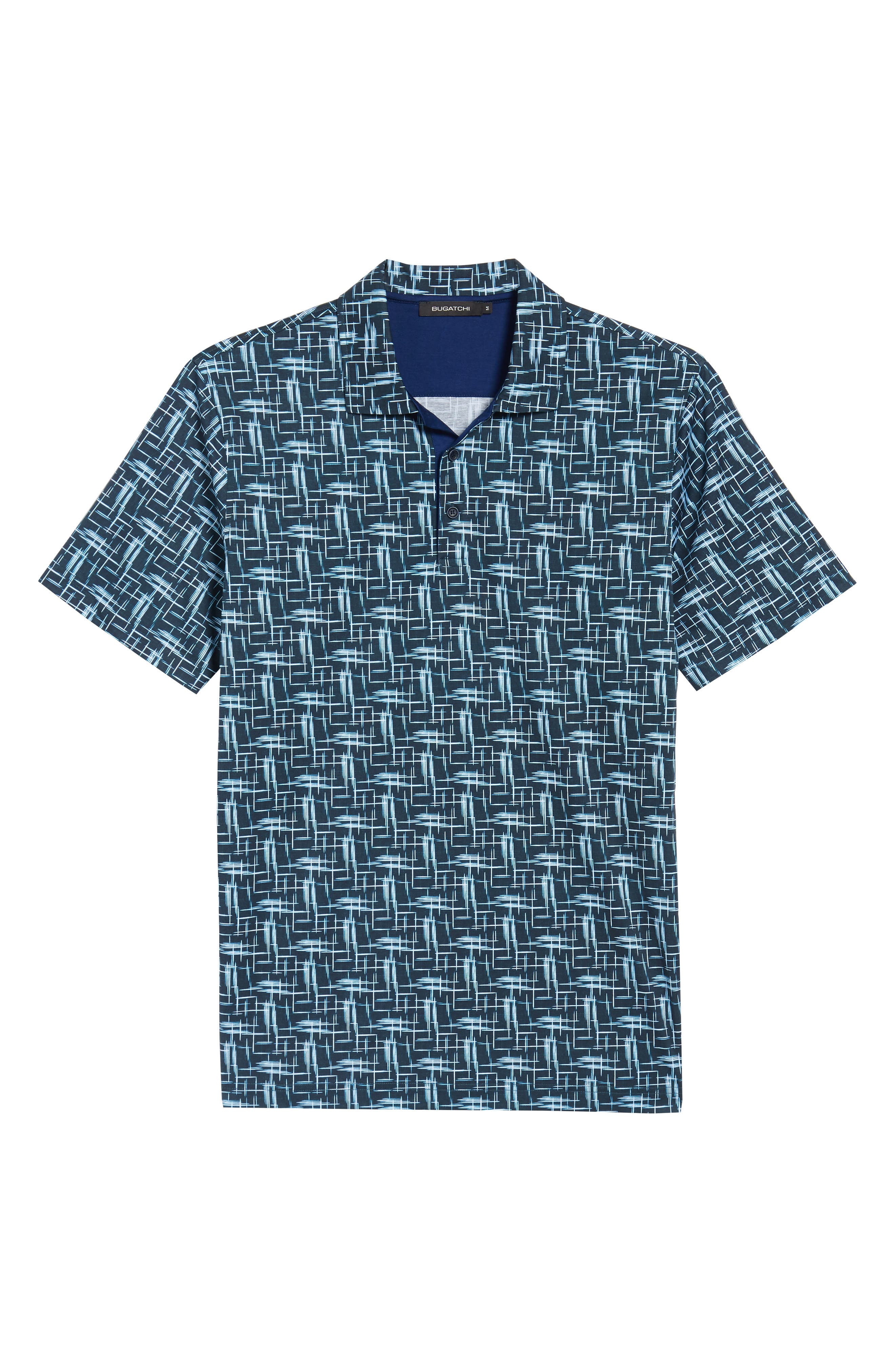 Classic Fit Broken Lines Polo,                             Alternate thumbnail 6, color,                             411