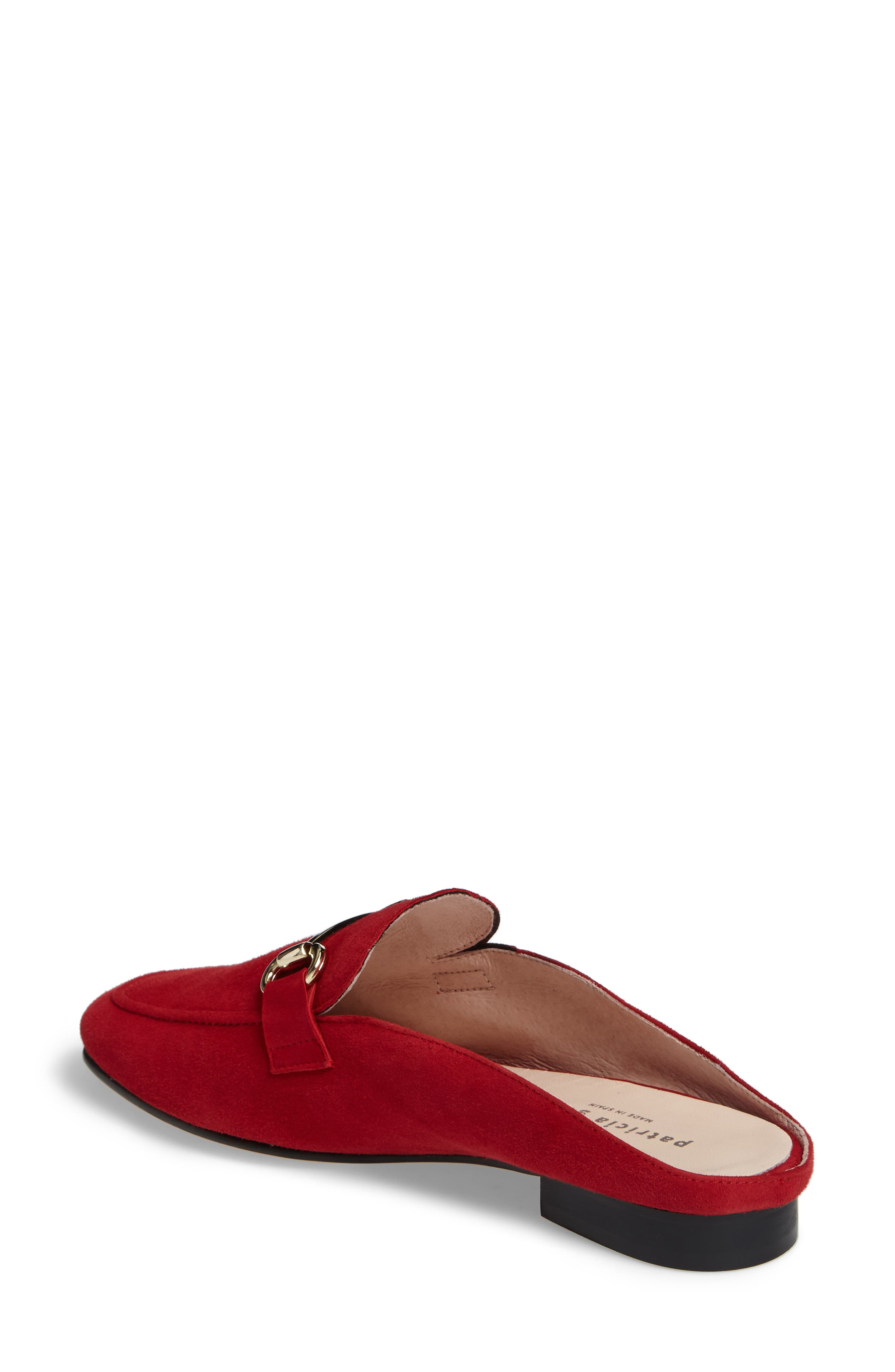 Sorrento Loafer Mule,                             Alternate thumbnail 2, color,                             RED SUEDE