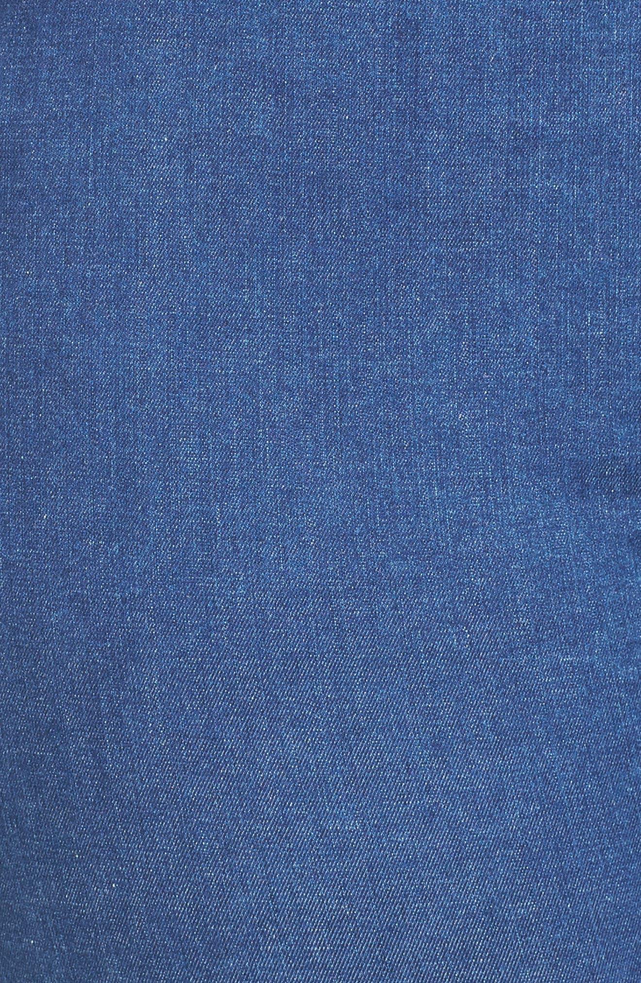 Nina Slimming Pull-On Capri Jeans,                             Alternate thumbnail 5, color,                             400