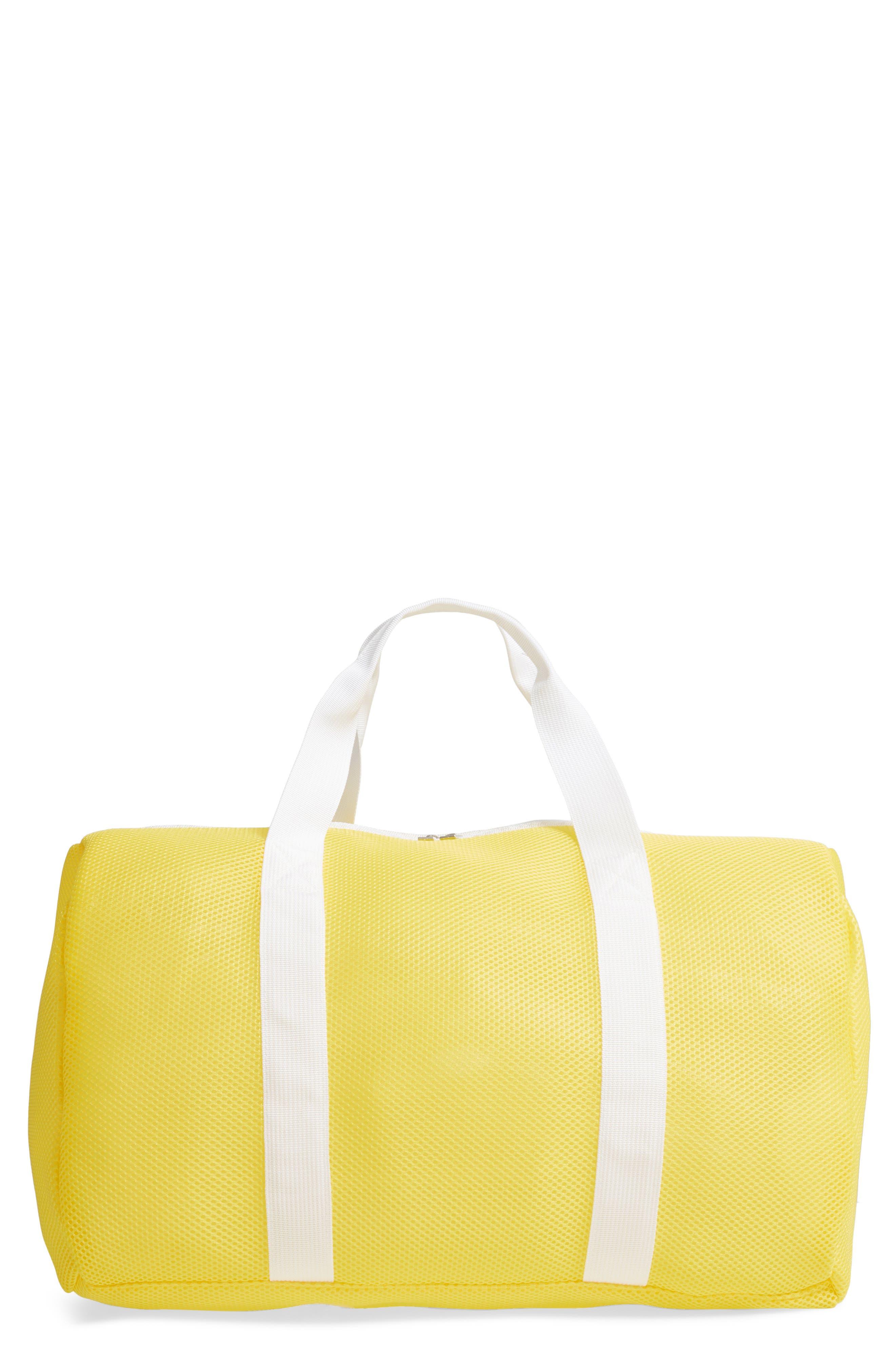 Neon Mesh Duffel Bag, Main, color, YELLOW