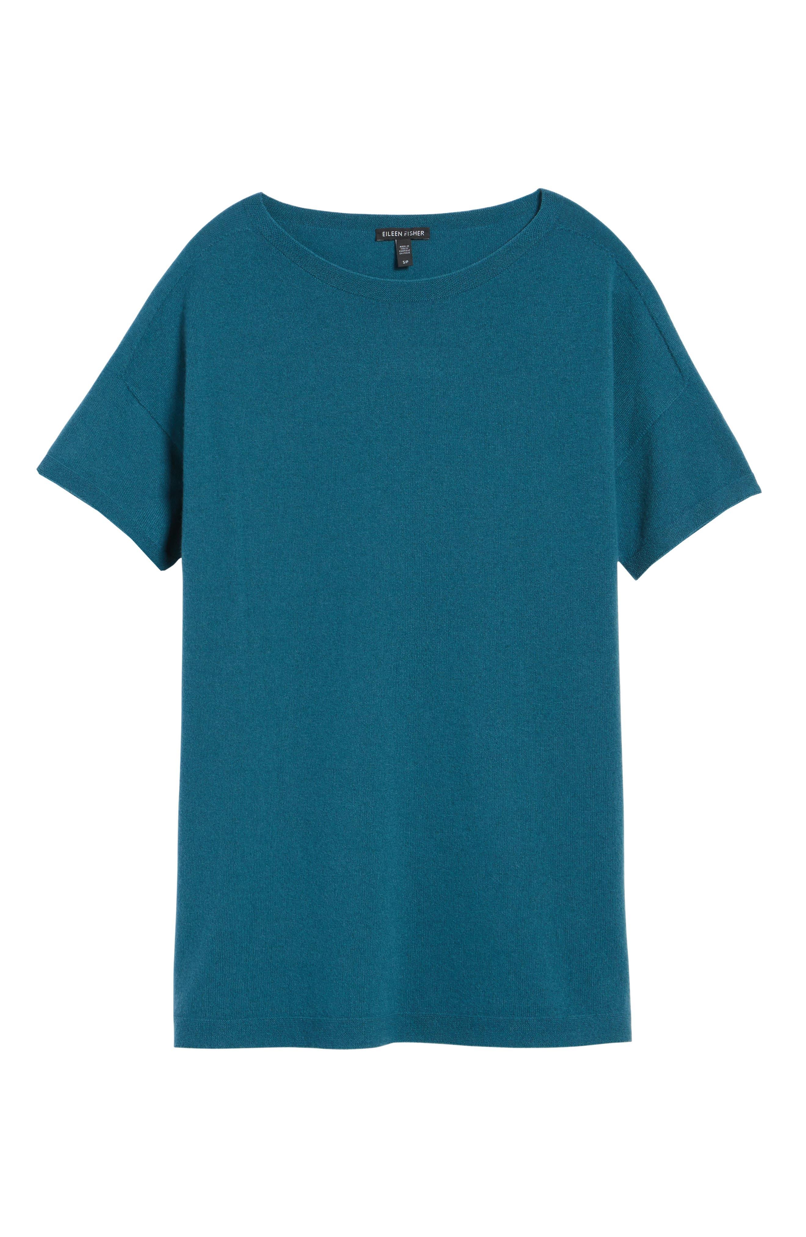 Cashmere Tunic Sweater,                             Alternate thumbnail 18, color,