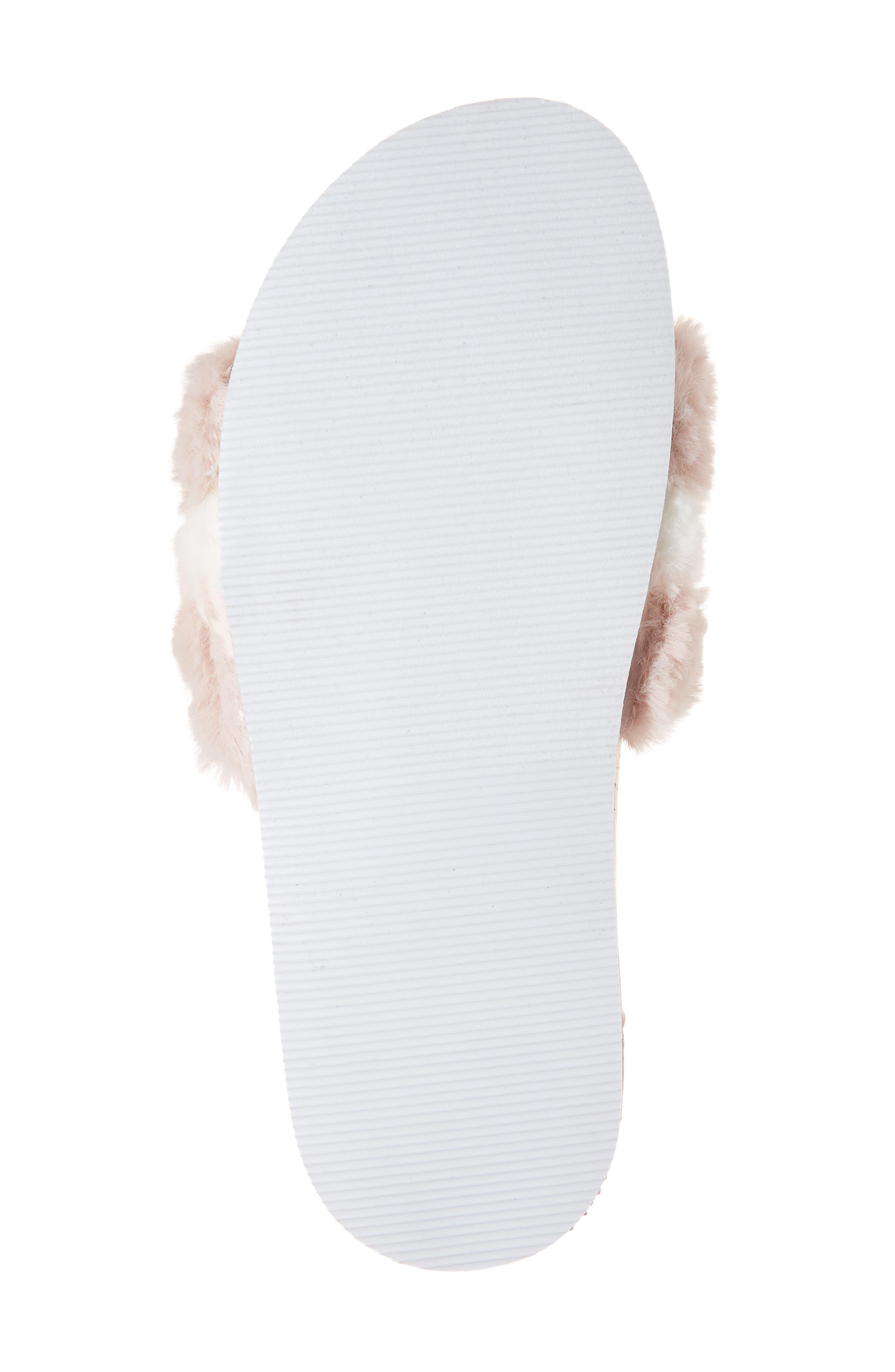 Kate Faux Fur Slide Sandal,                             Alternate thumbnail 6, color,                             650
