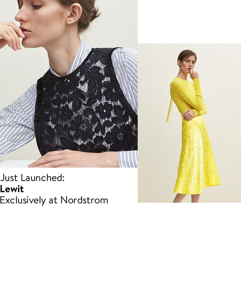 Exclusively at Nordstrom: Lewit clothing and shoes.