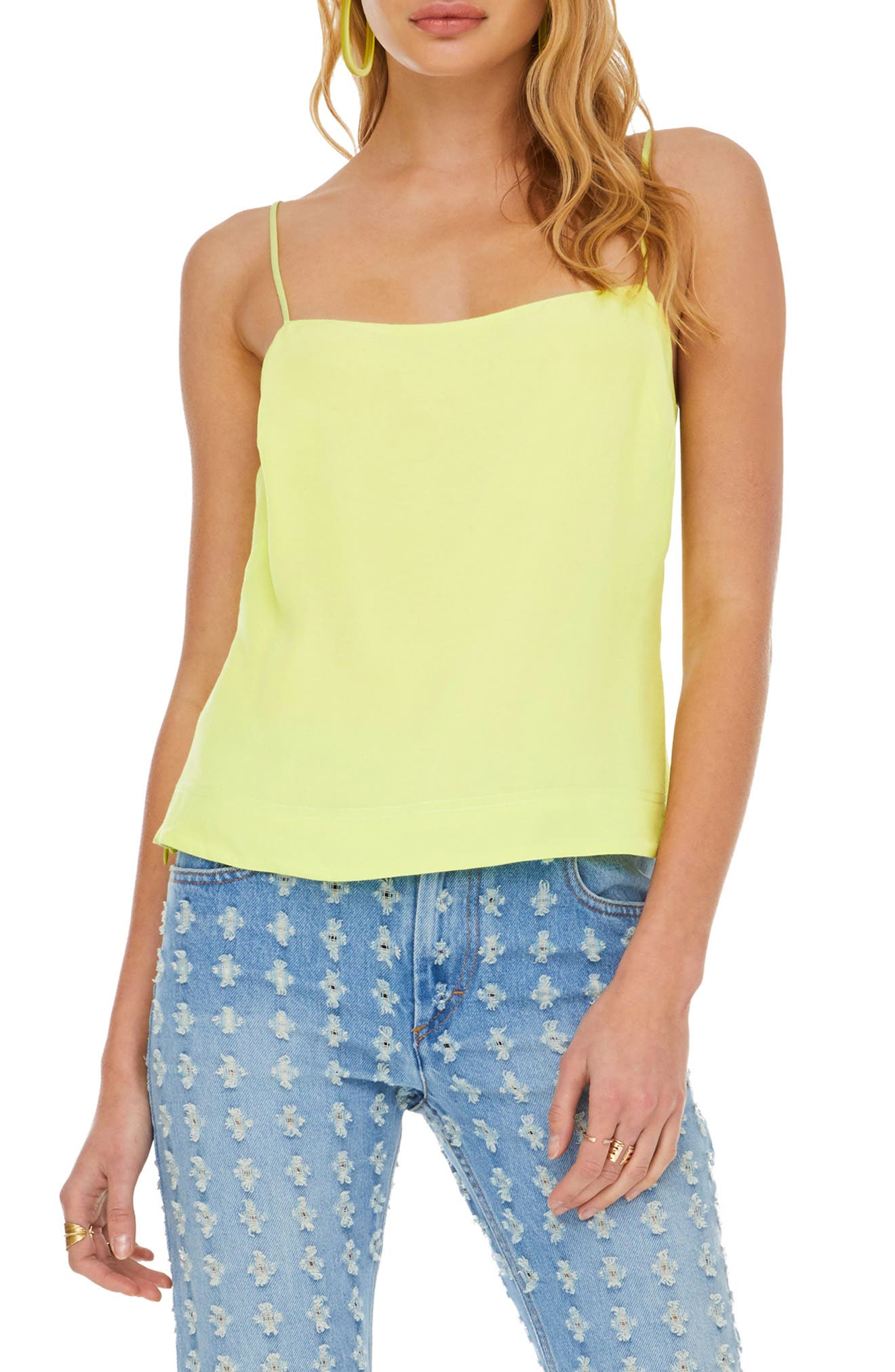 Astr The Label Satire Camisole, Yellow