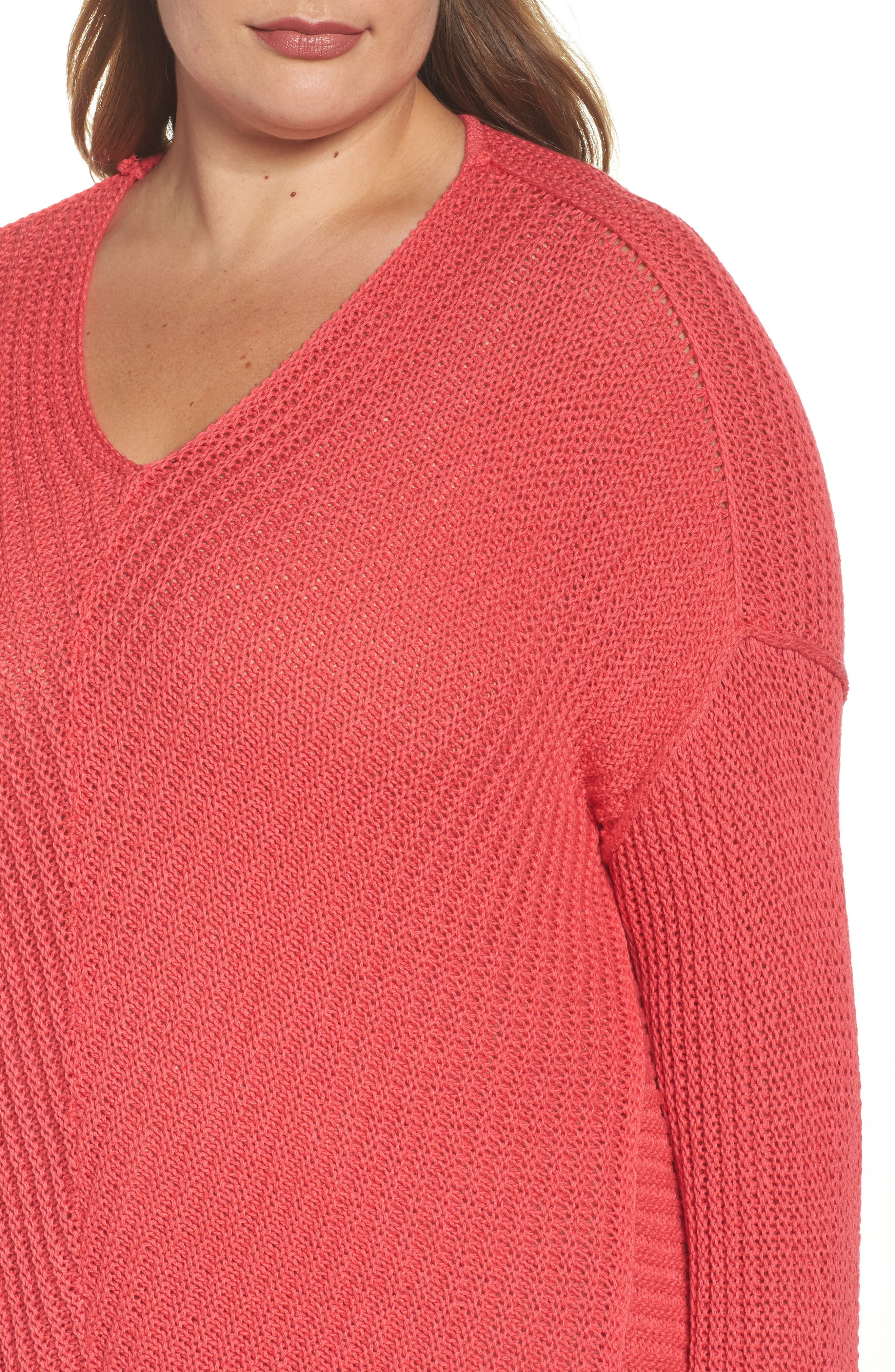 Cuffed Bell Sleeve Sweater,                             Alternate thumbnail 12, color,