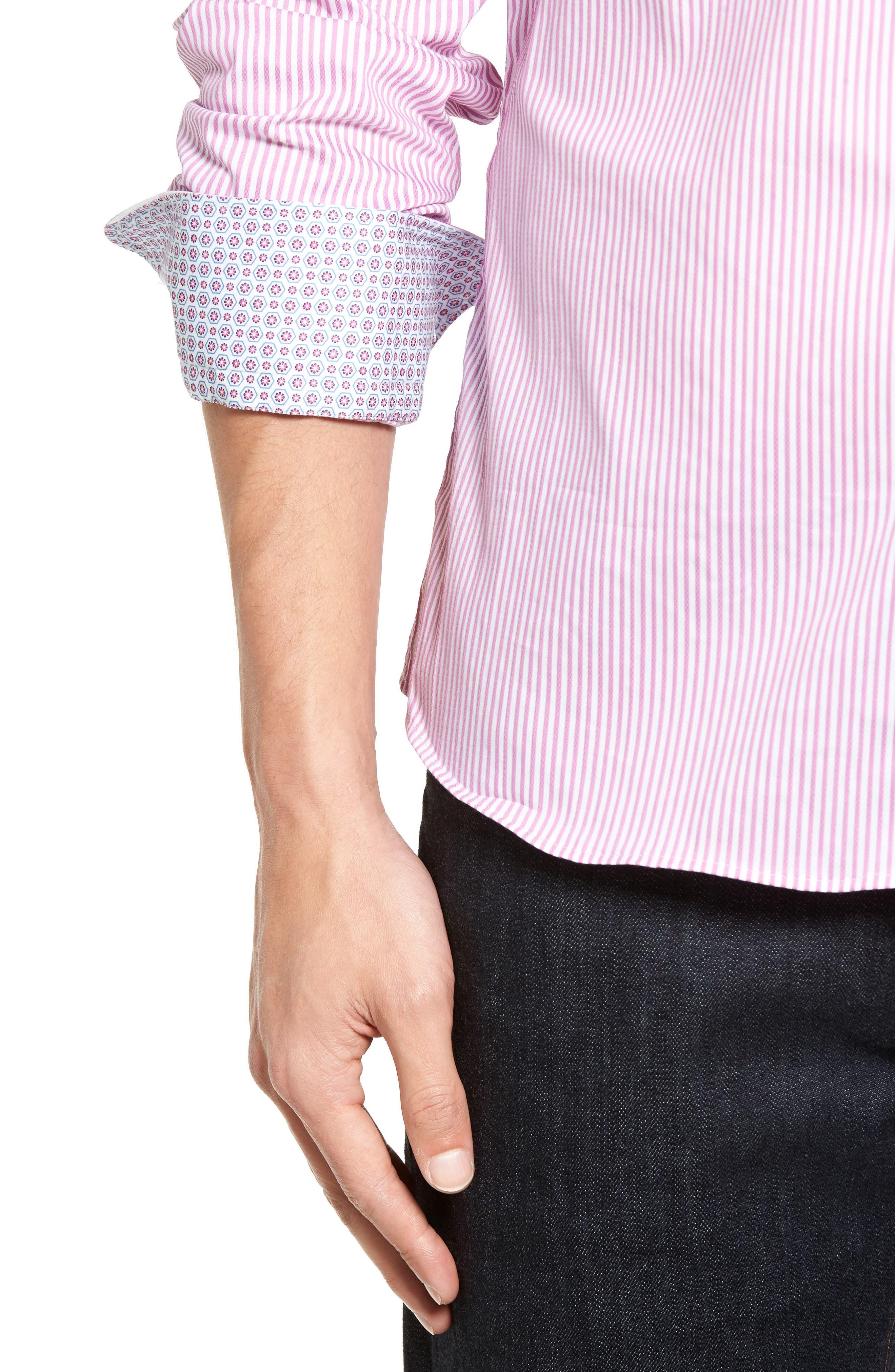 Technical Stripe Sport Shirt,                             Alternate thumbnail 12, color,