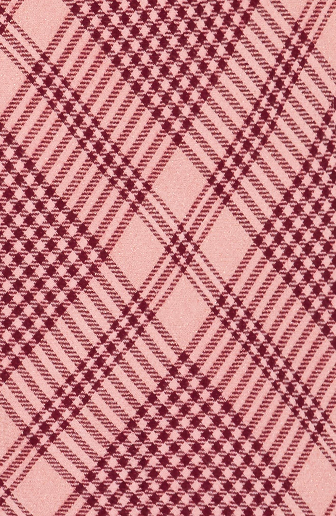 Metallic Plaid Triangle Scarf,                             Alternate thumbnail 3, color,                             690