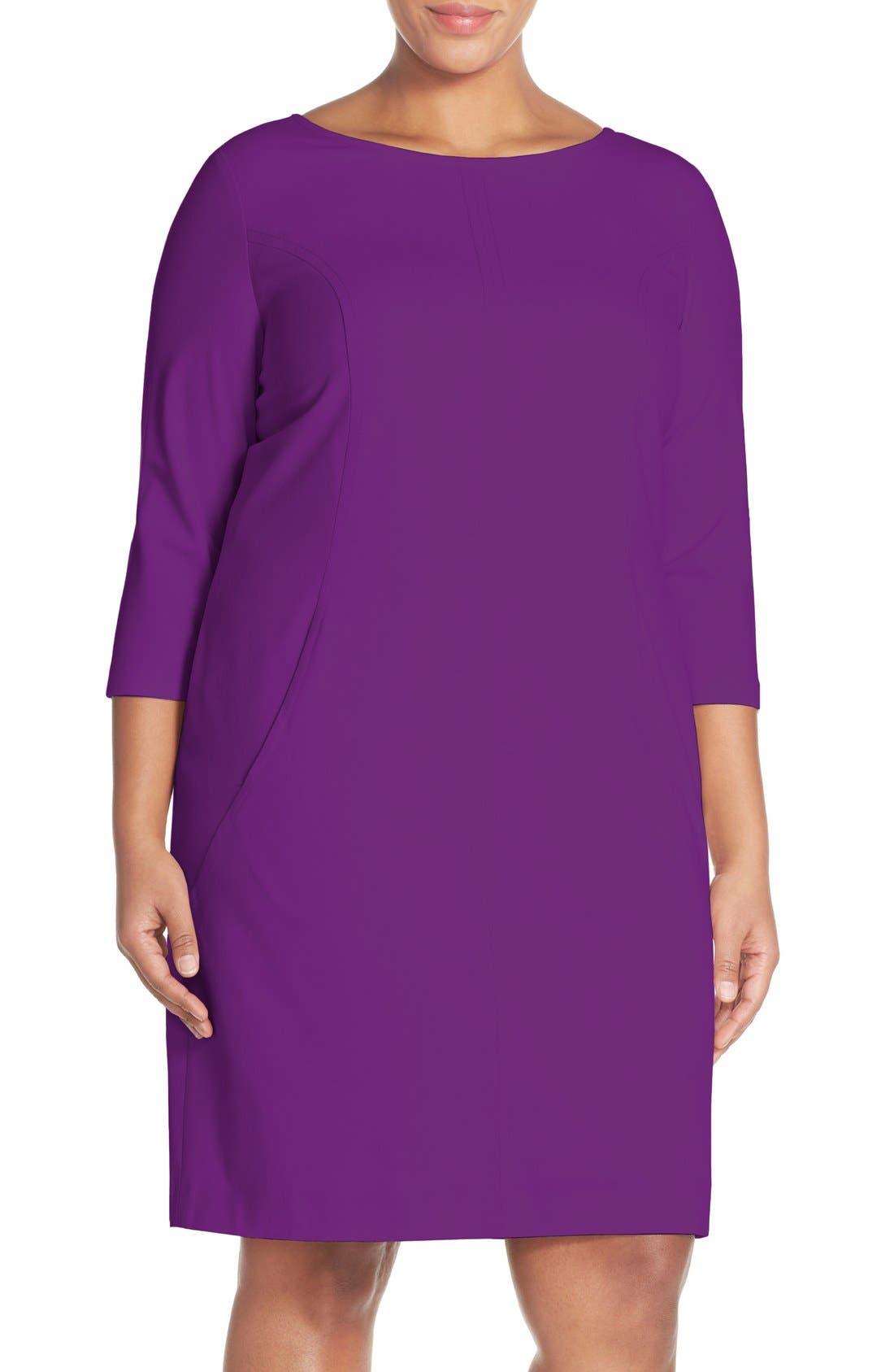 by Arthur S. Levine Seamed A-Line Dress,                             Main thumbnail 9, color,