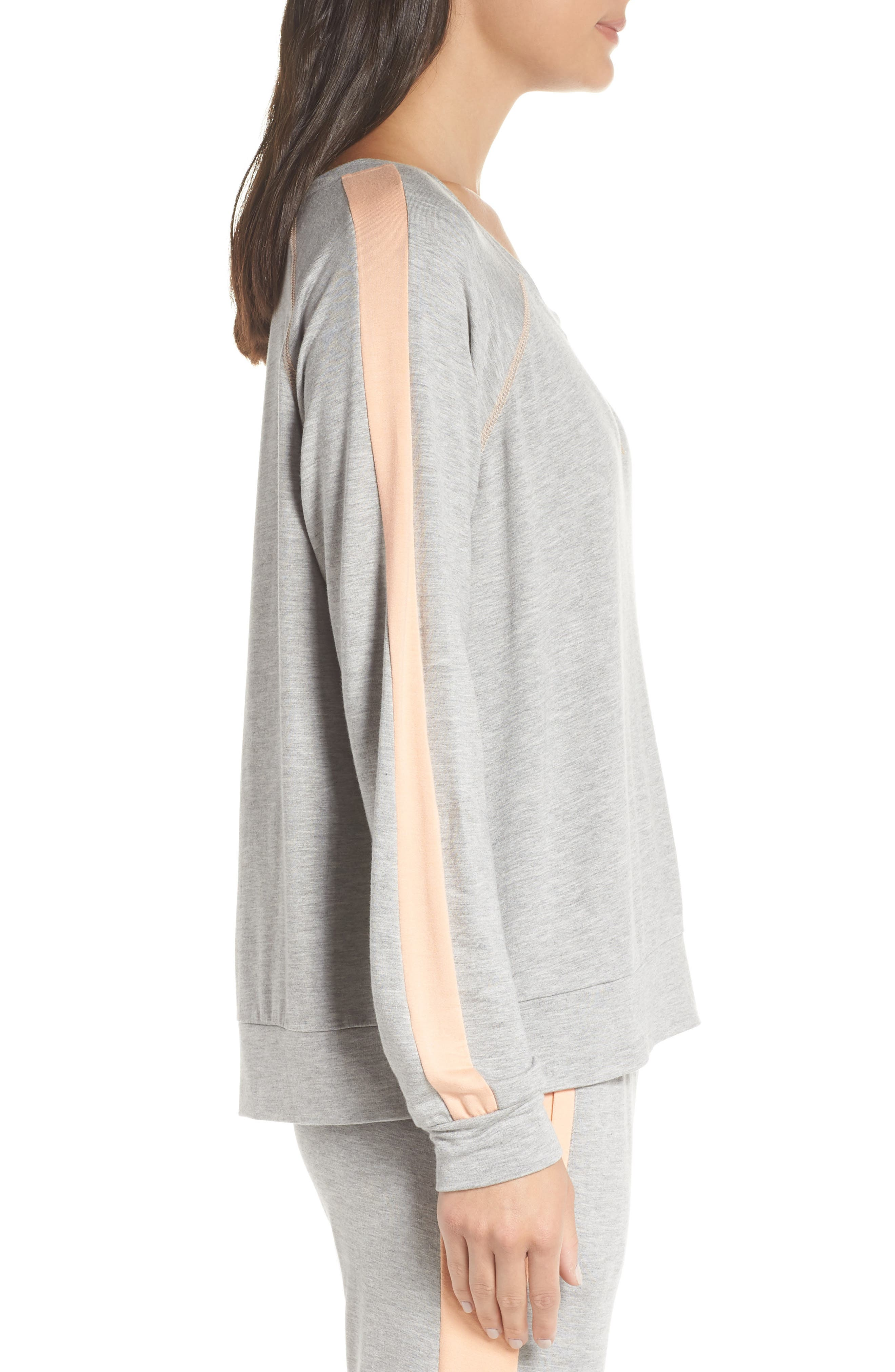 Elevens Sweatshirt,                             Alternate thumbnail 3, color,                             HEATHER / PEACH