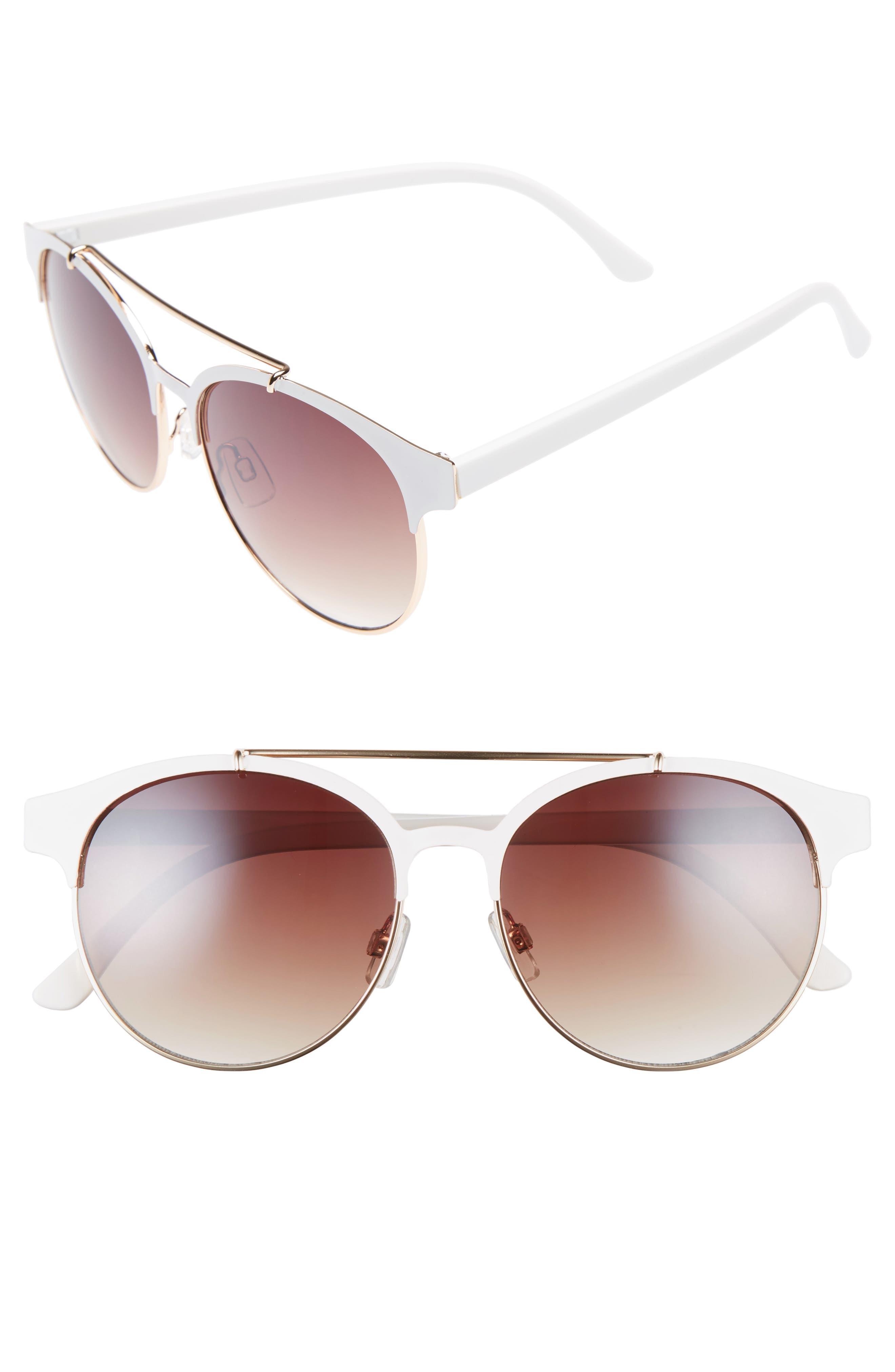 55mm Round Sunglasses,                             Main thumbnail 2, color,