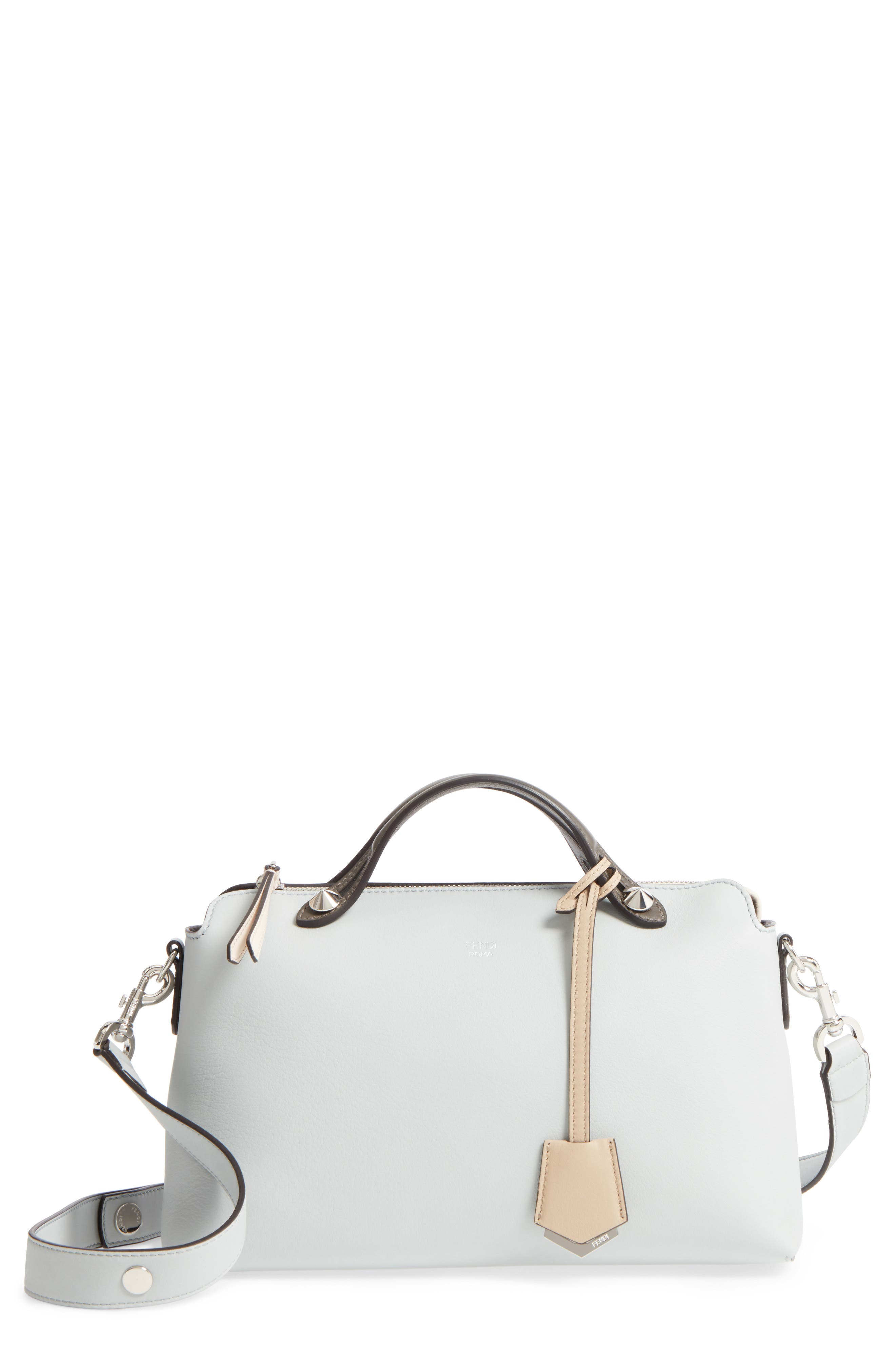 'Medium By the Way' Colorblock Leather Shoulder Bag,                         Main,                         color, GREY PERLA