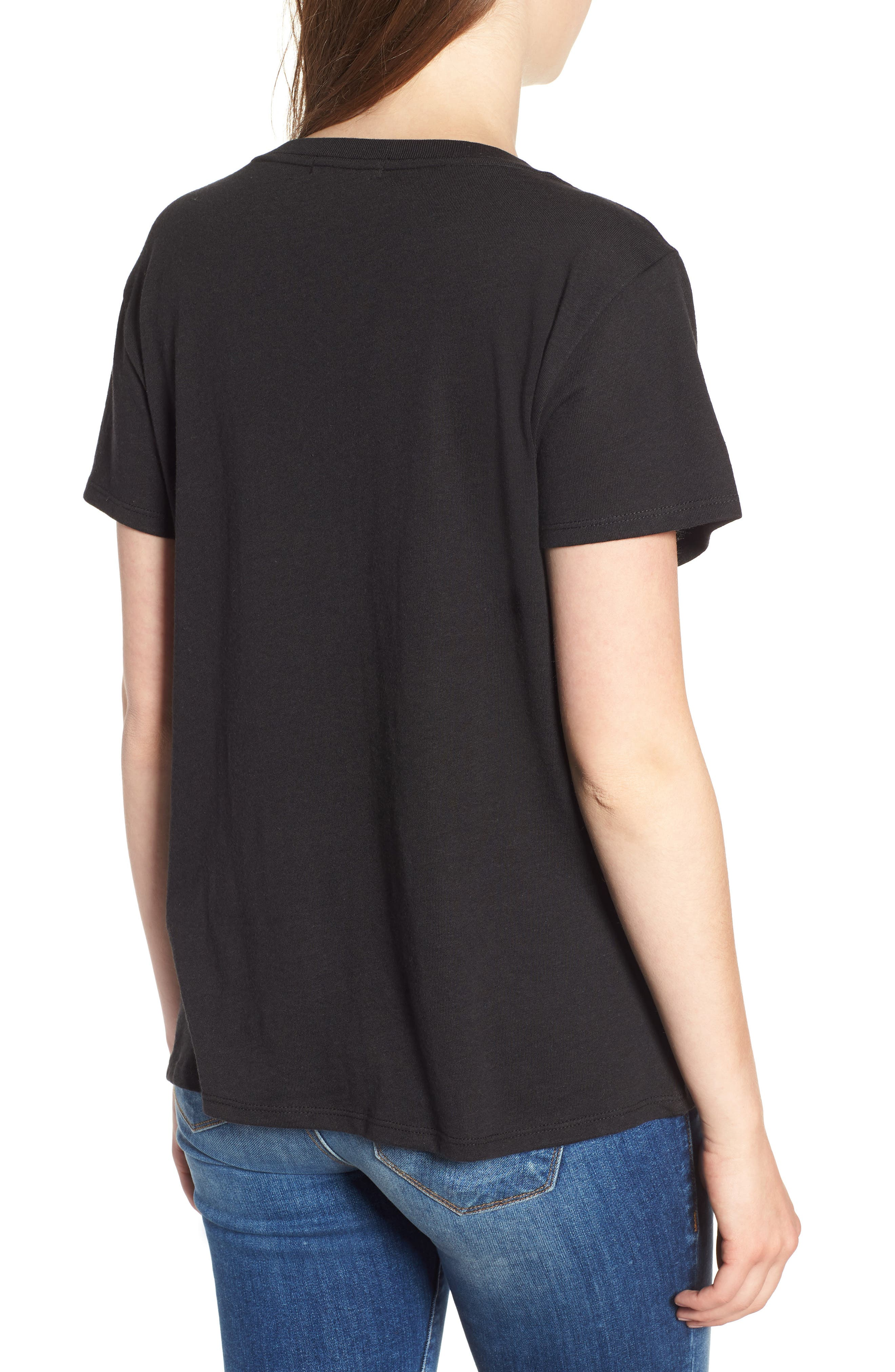 Ladies Who Brunch Slouched Tee,                             Alternate thumbnail 2, color,                             001