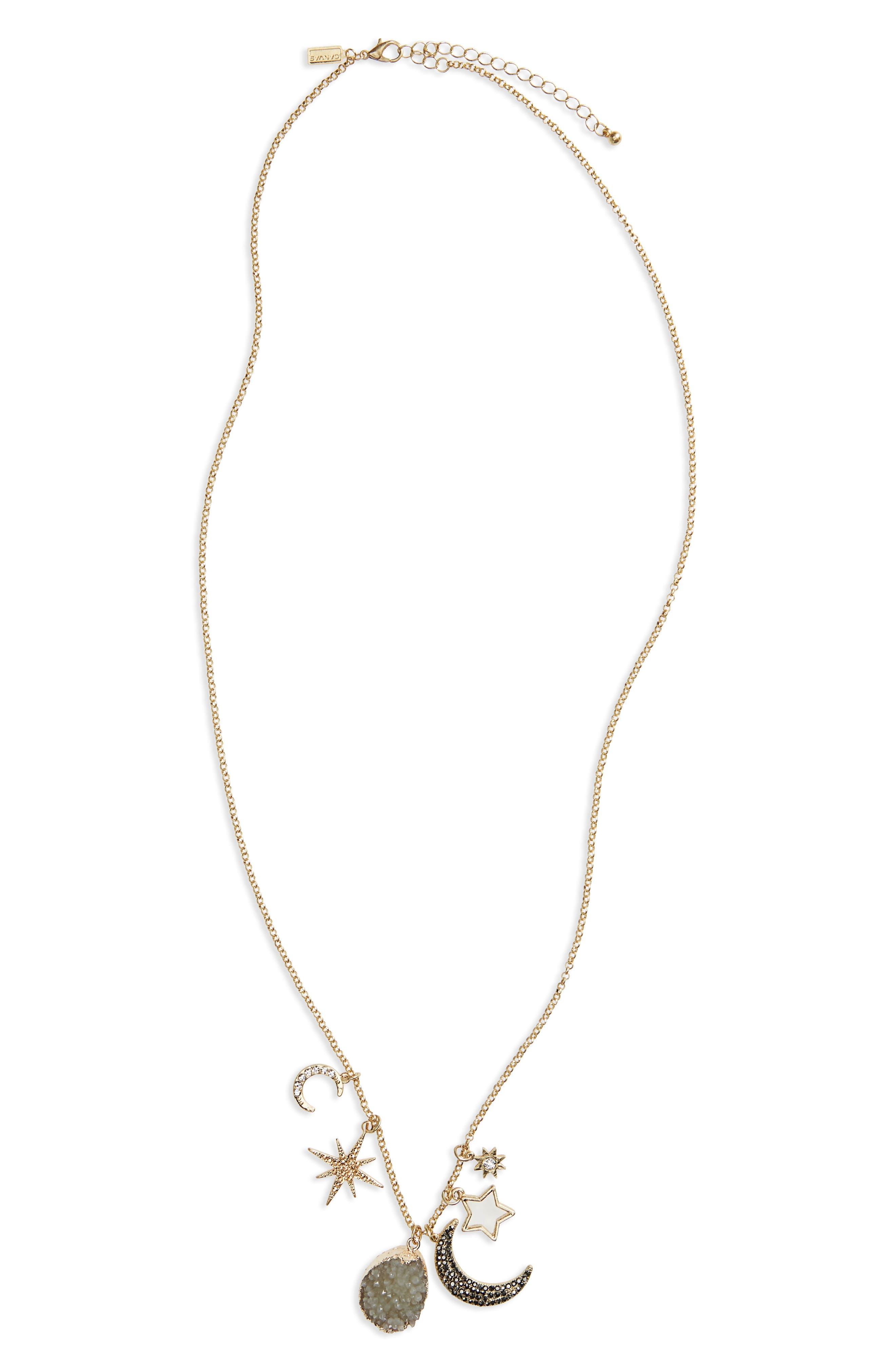 Drusy Pendant Necklace,                         Main,                         color, 710