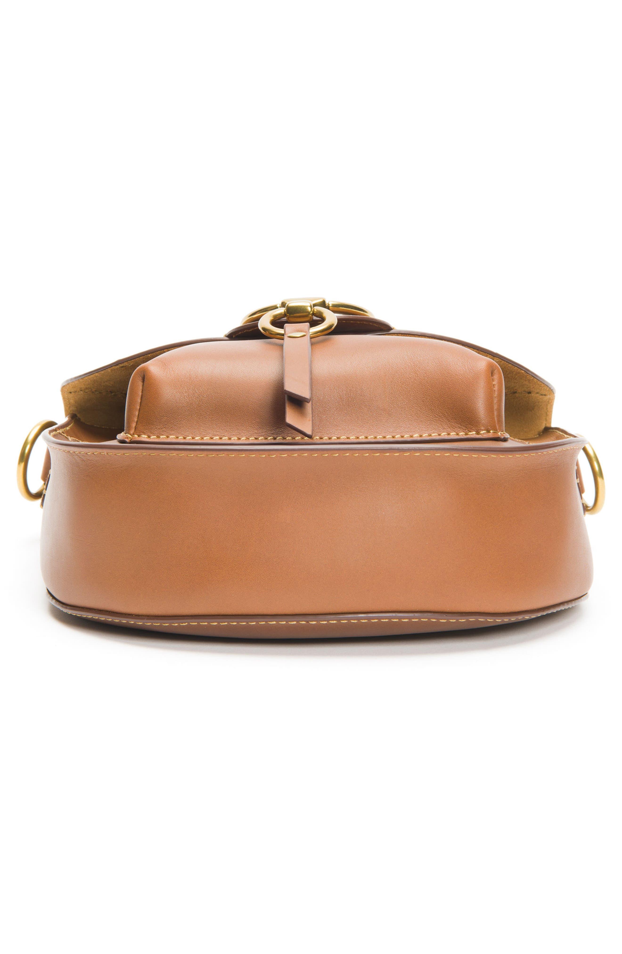 Ilana Colorblock Leather Saddle Bag,                             Alternate thumbnail 6, color,                             200