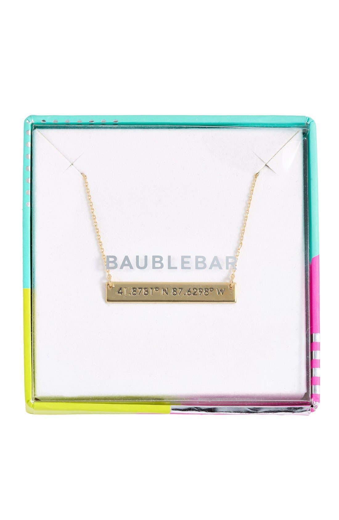 Coordinate Bar Pendant Necklace,                             Alternate thumbnail 21, color,