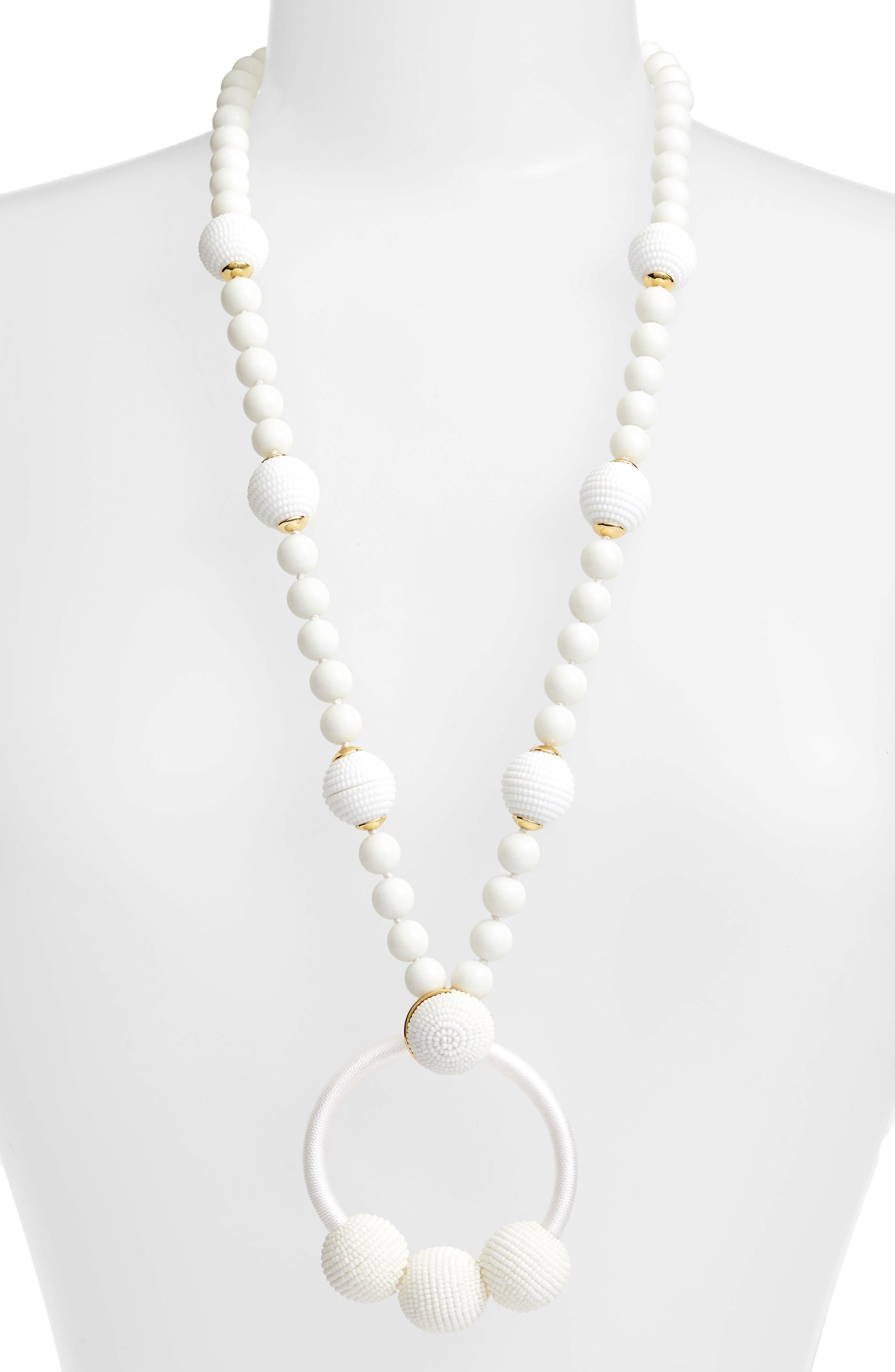 the bead goes on pendant necklace,                         Main,                         color, WHITE