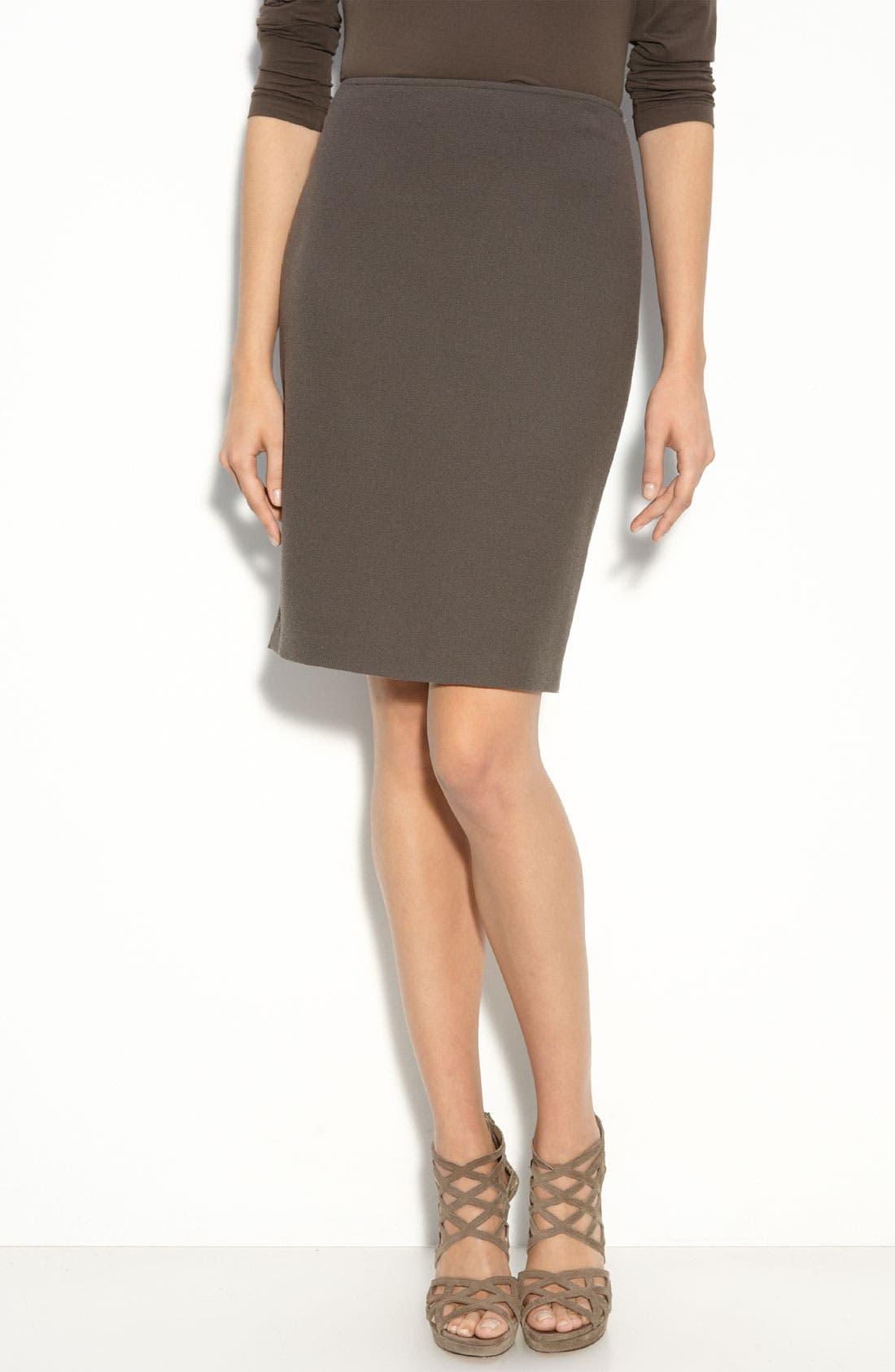 Double Face Crepe Pencil Skirt,                         Main,                         color, 200