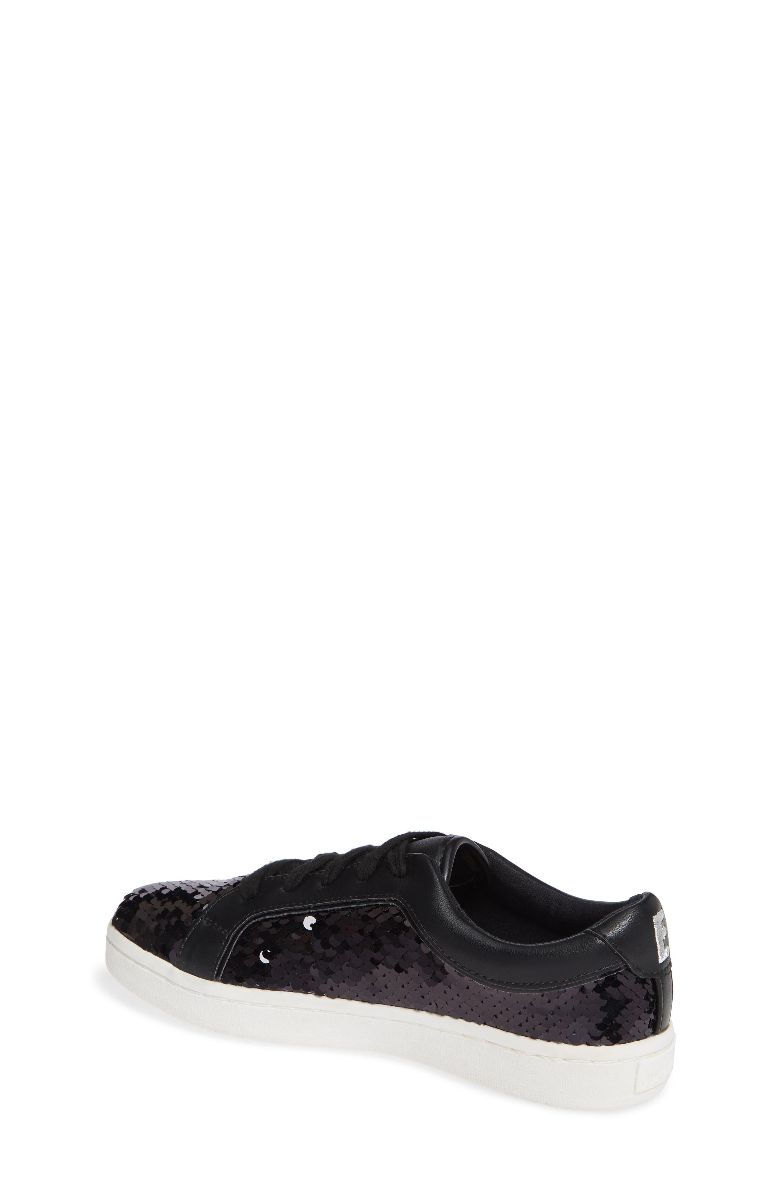 Blane Elizia Sequin Sneaker,                             Alternate thumbnail 2, color,                             BLACK SILVER