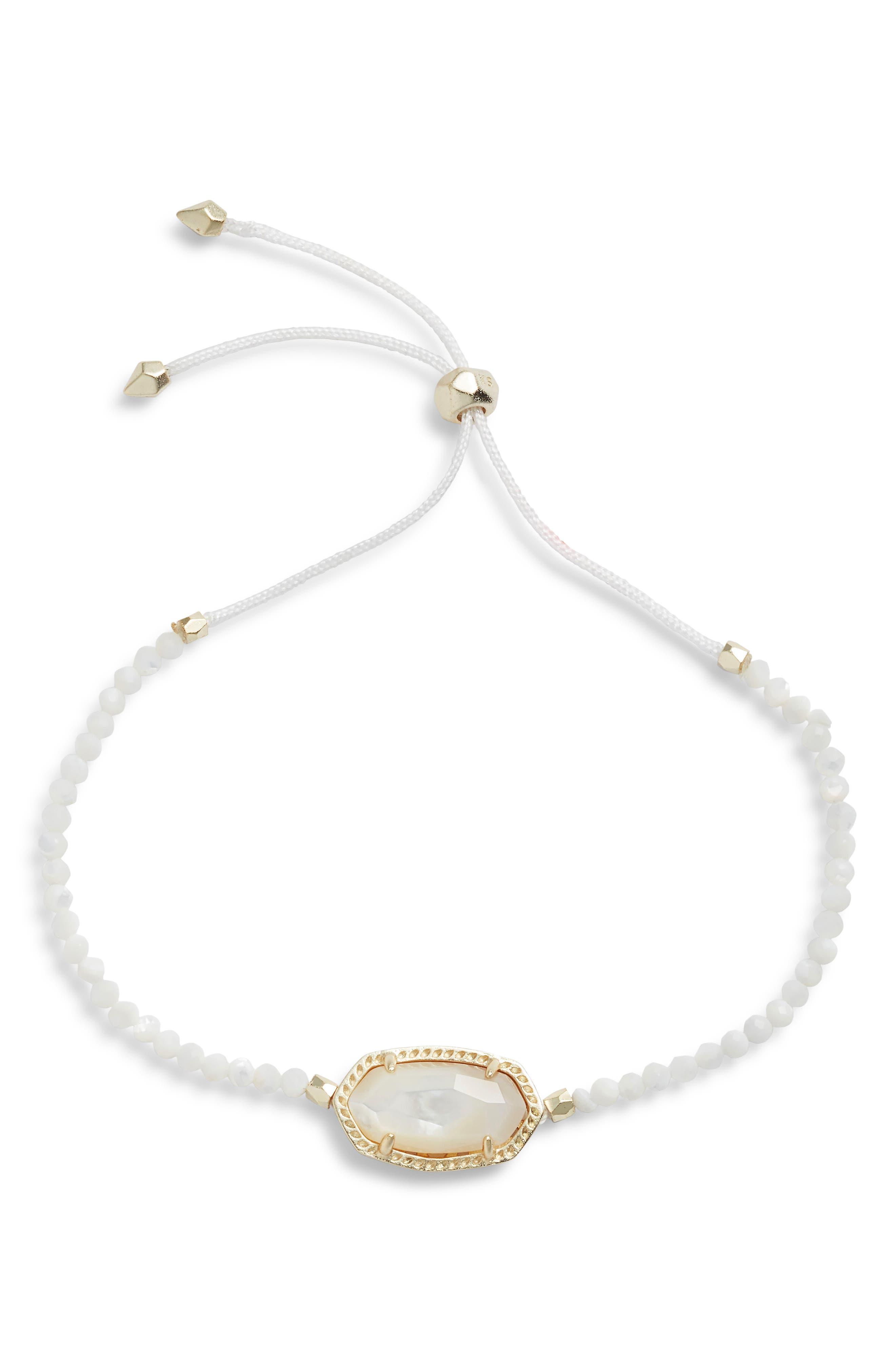 Elaina Beaded Bracelet,                         Main,                         color, IVORY MOP/ GOLD