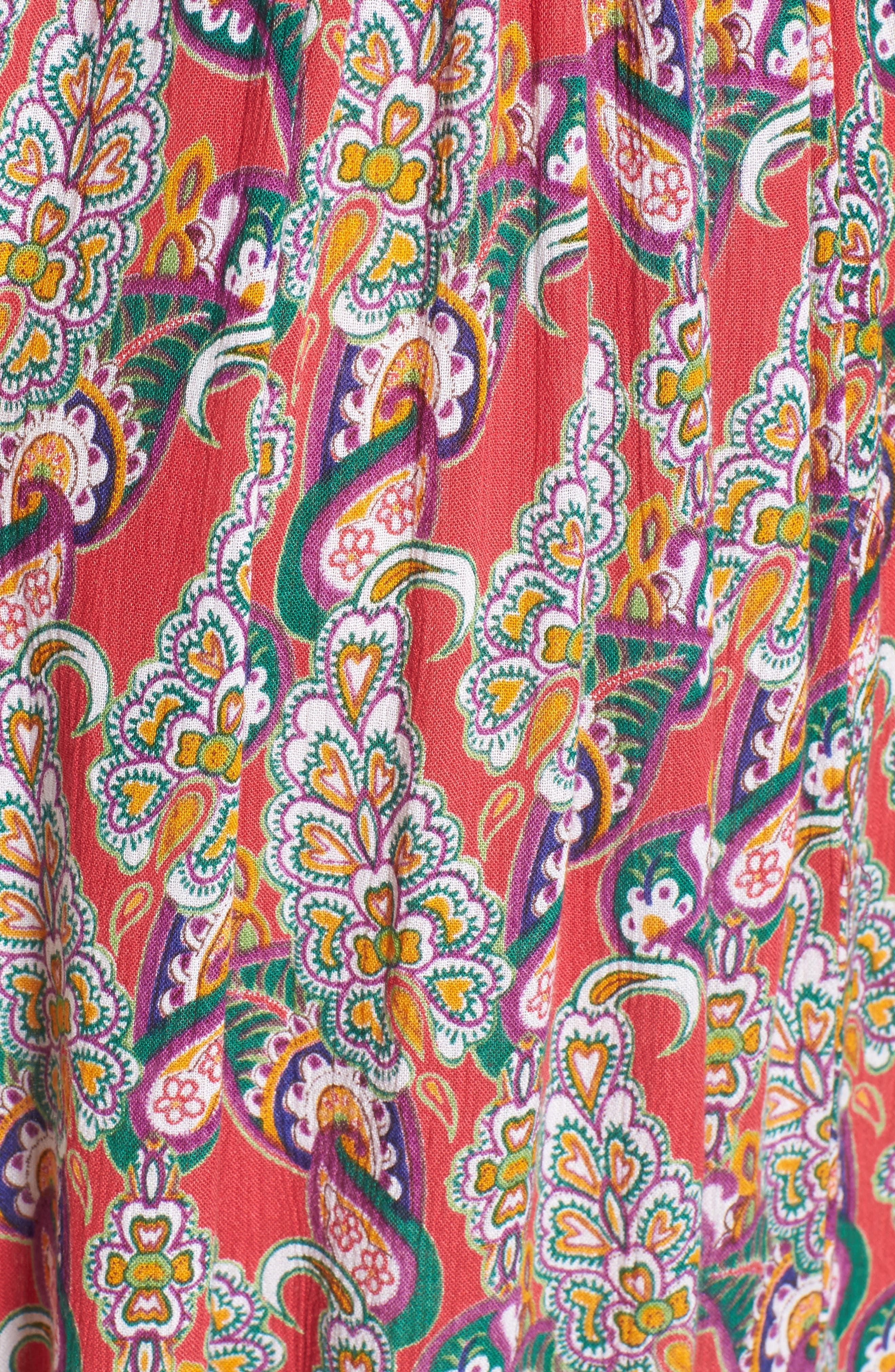 Alice Cut Out Back Midi Dress,                             Alternate thumbnail 5, color,                             645
