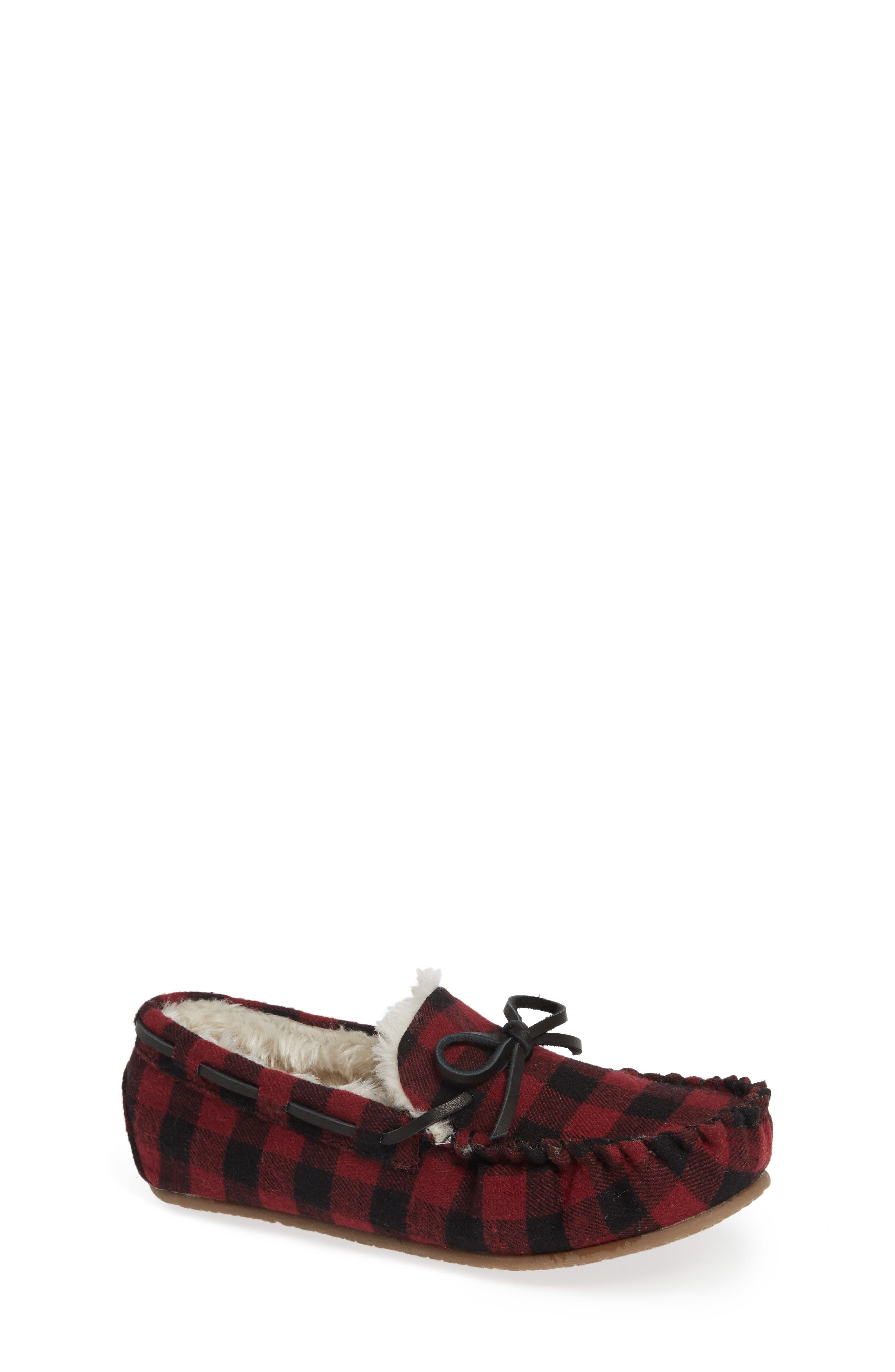 Max Faux Fur Moccasin Slipper,                             Main thumbnail 1, color,                             600