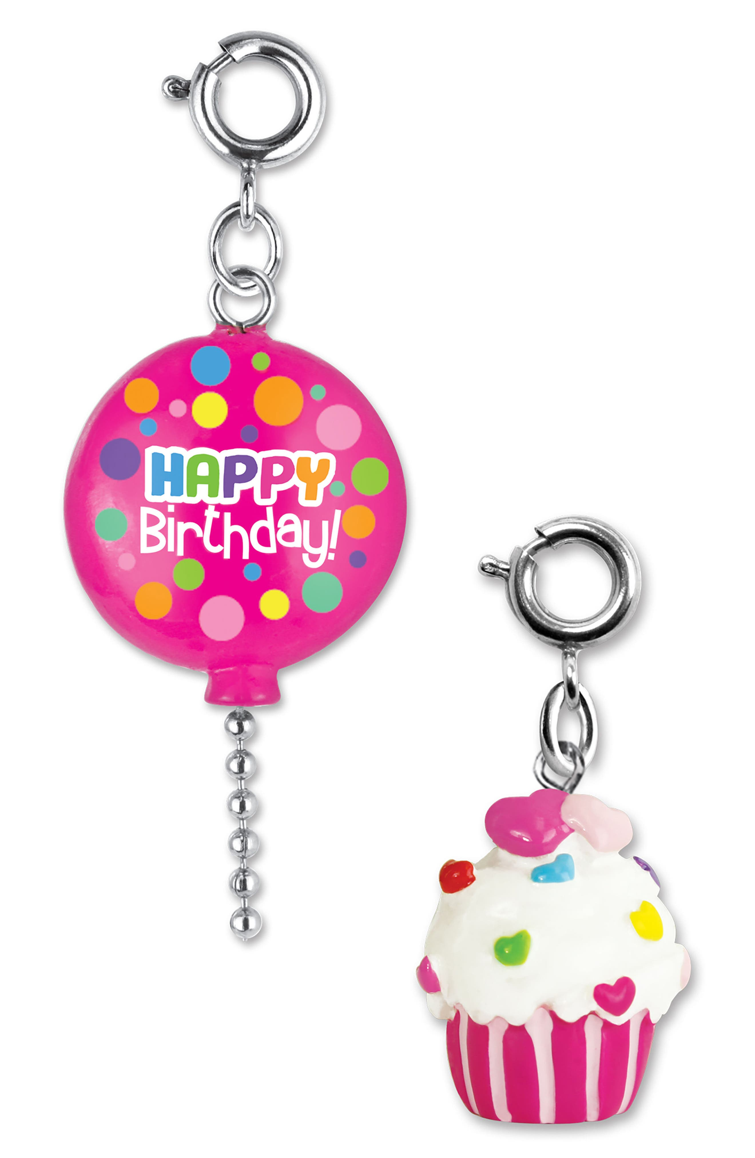 CHARM IT!<sup>®</sup> 2-Pack Birthday Balloon & Cupcake Charms,                         Main,                         color, MULTI