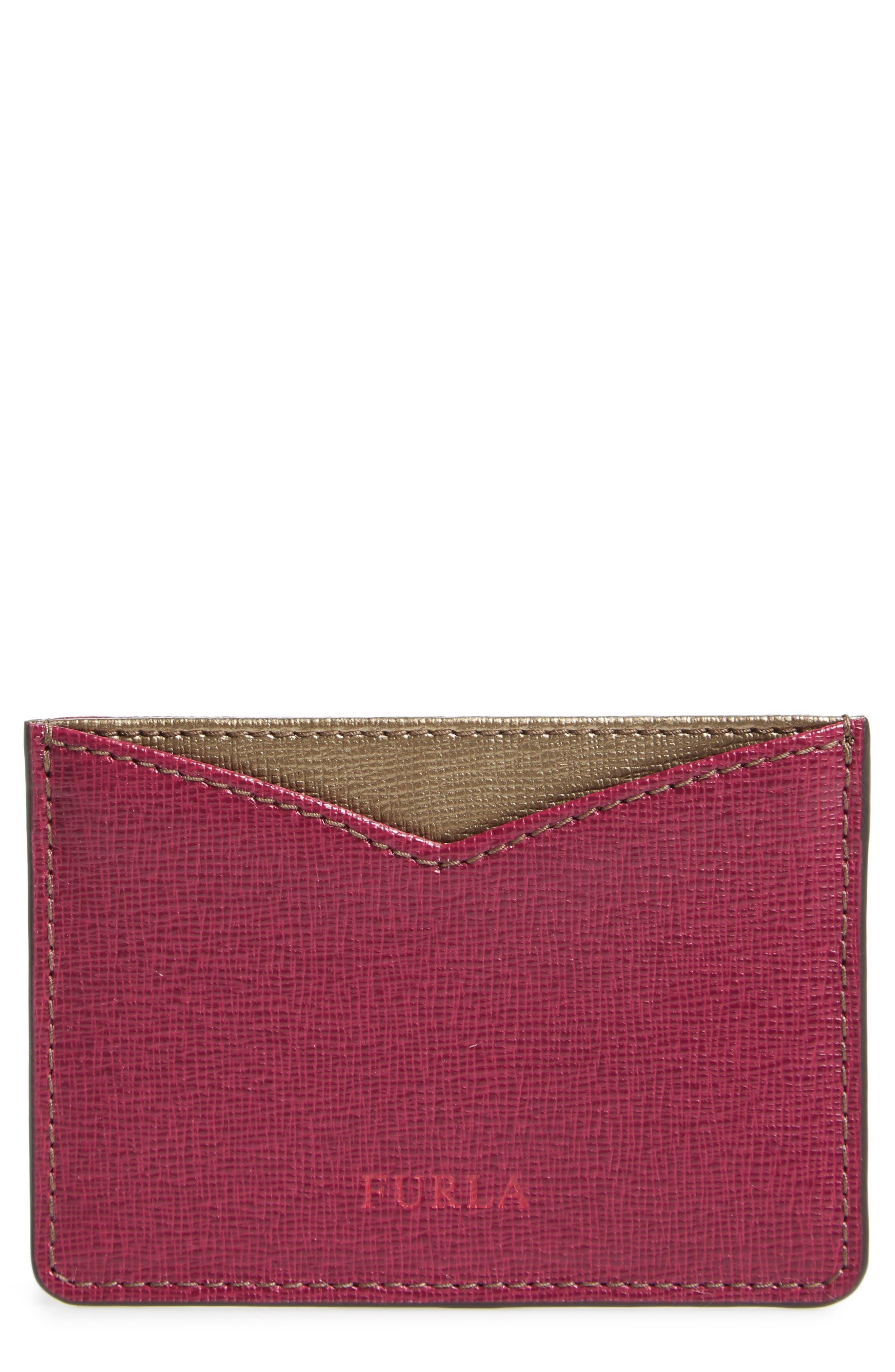 Gioia Saffiano Leather Card Case,                             Main thumbnail 3, color,