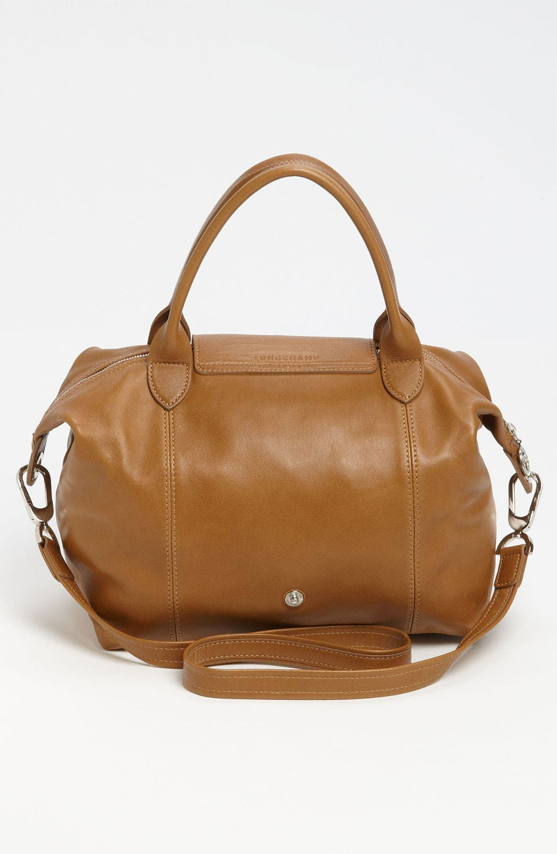 Small 'Le Pliage Cuir' Leather Top Handle Tote,                             Alternate thumbnail 47, color,