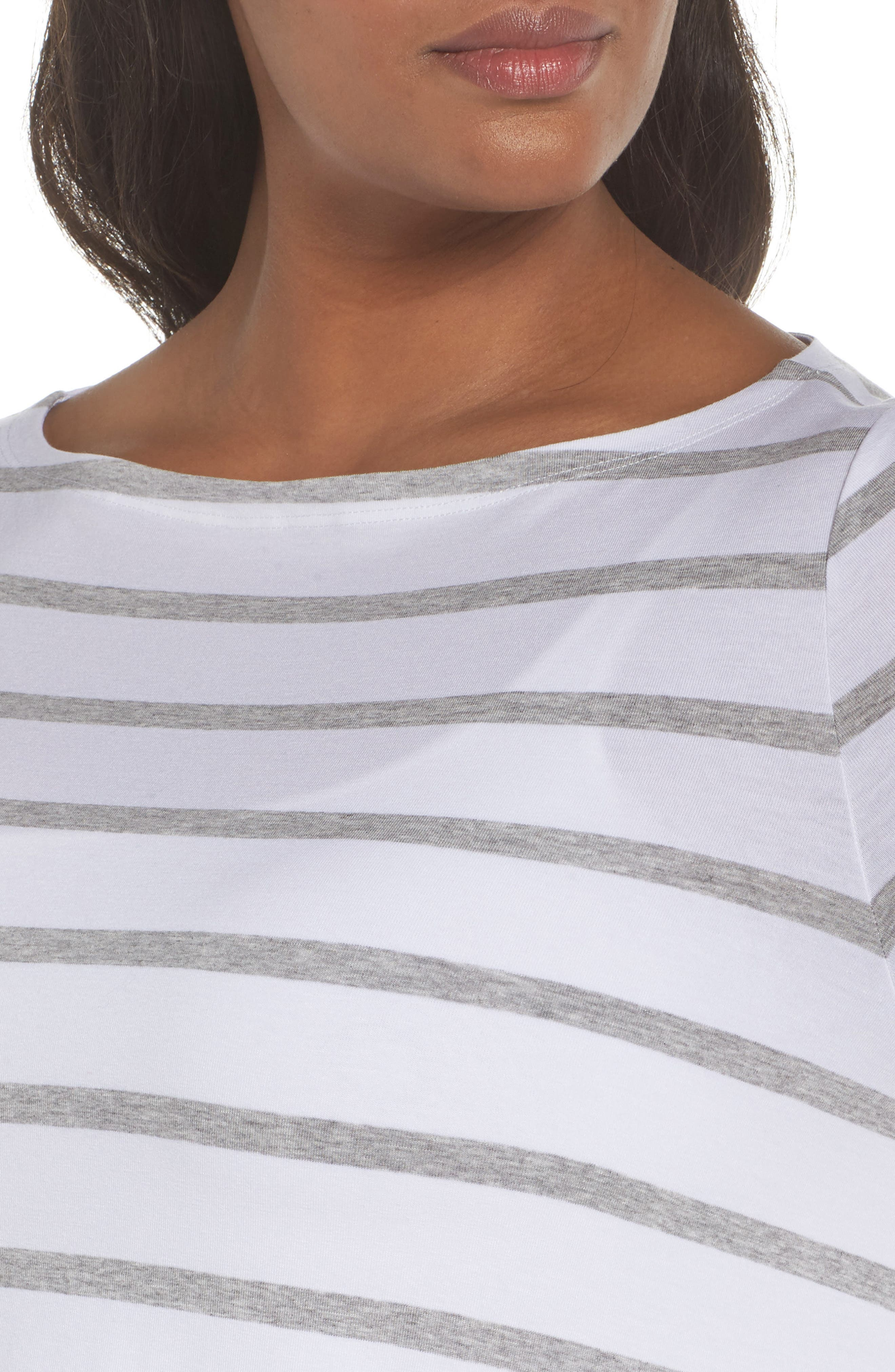Stripe Stretch Tencel<sup>®</sup> Lyocell Top,                             Alternate thumbnail 4, color,                             131