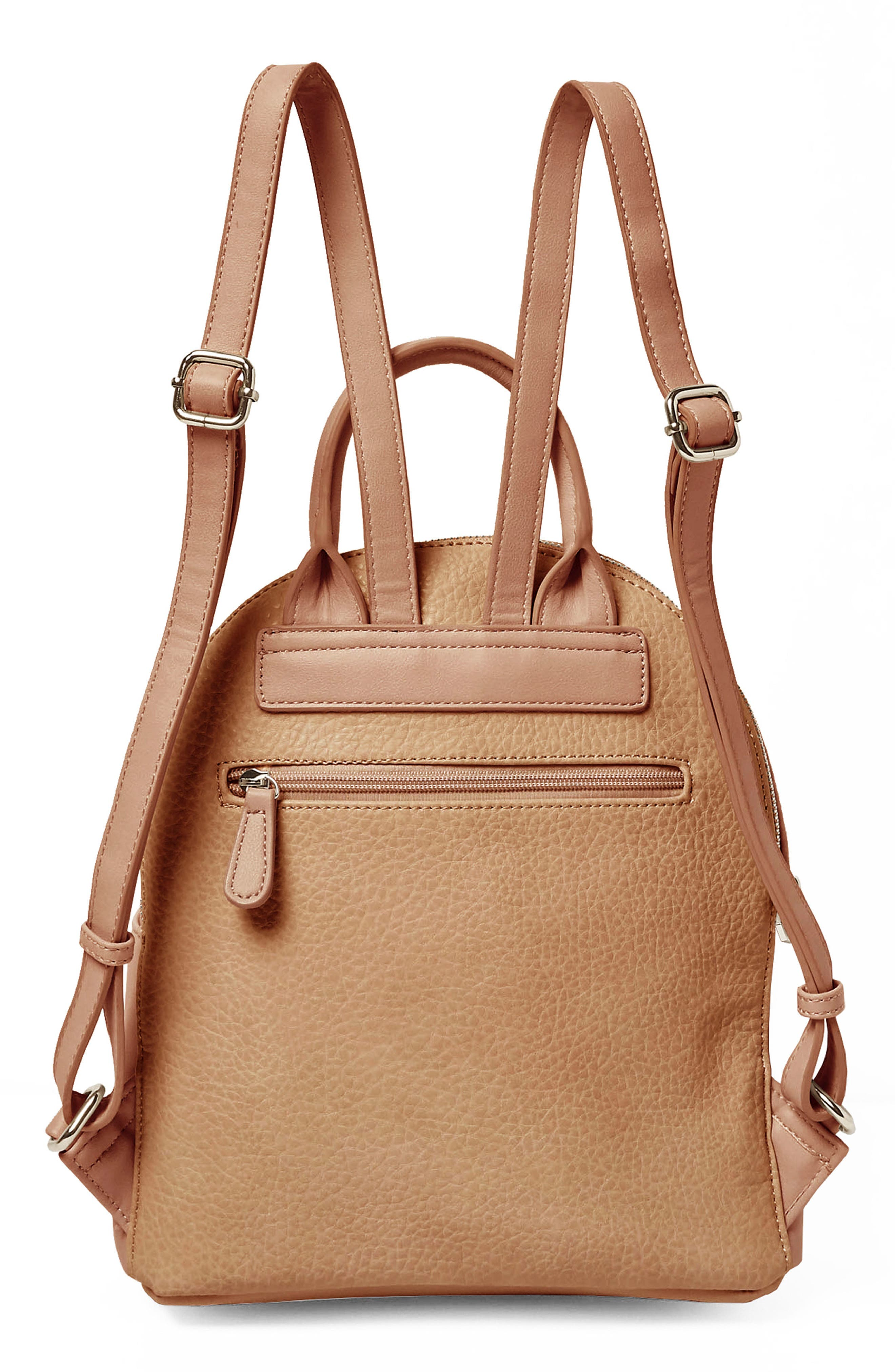 Into the Night Vegan Leather Backpack,                             Alternate thumbnail 6, color,