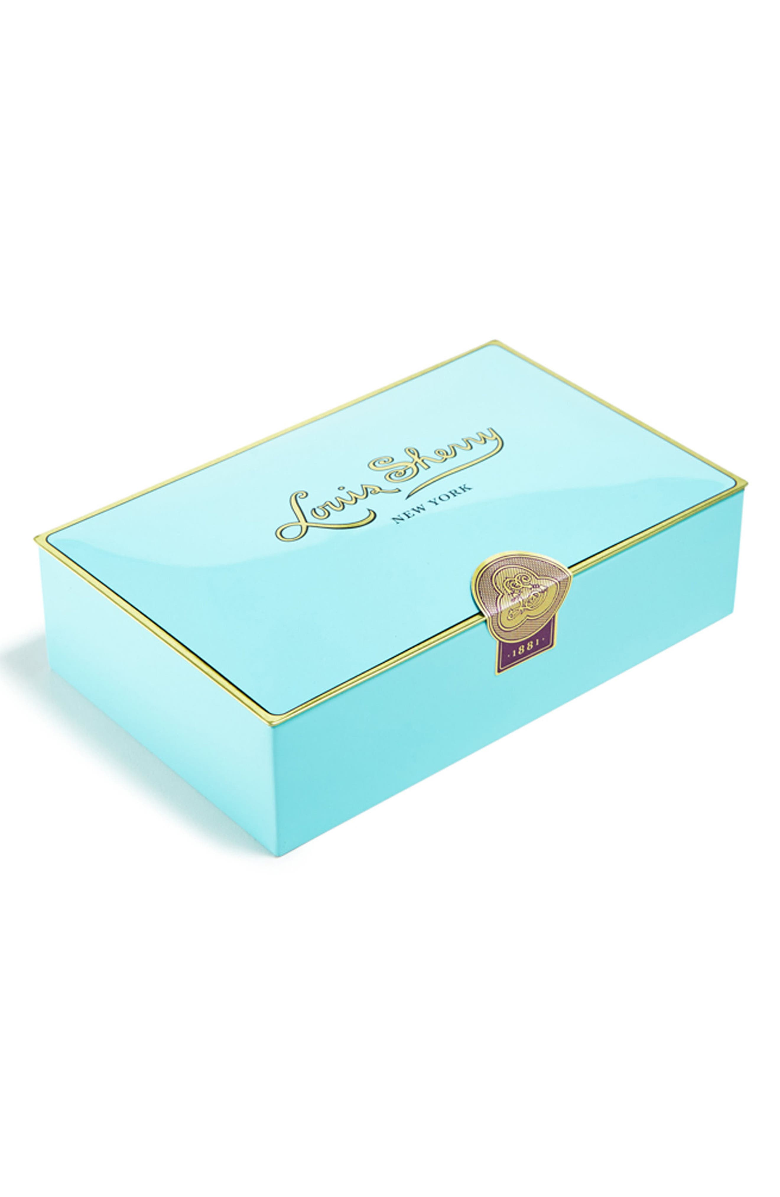 Louis Sherry 12-Piece Chocolate Truffle Tin,                             Main thumbnail 1, color,                             NILE BLUE LIGHT BLUE