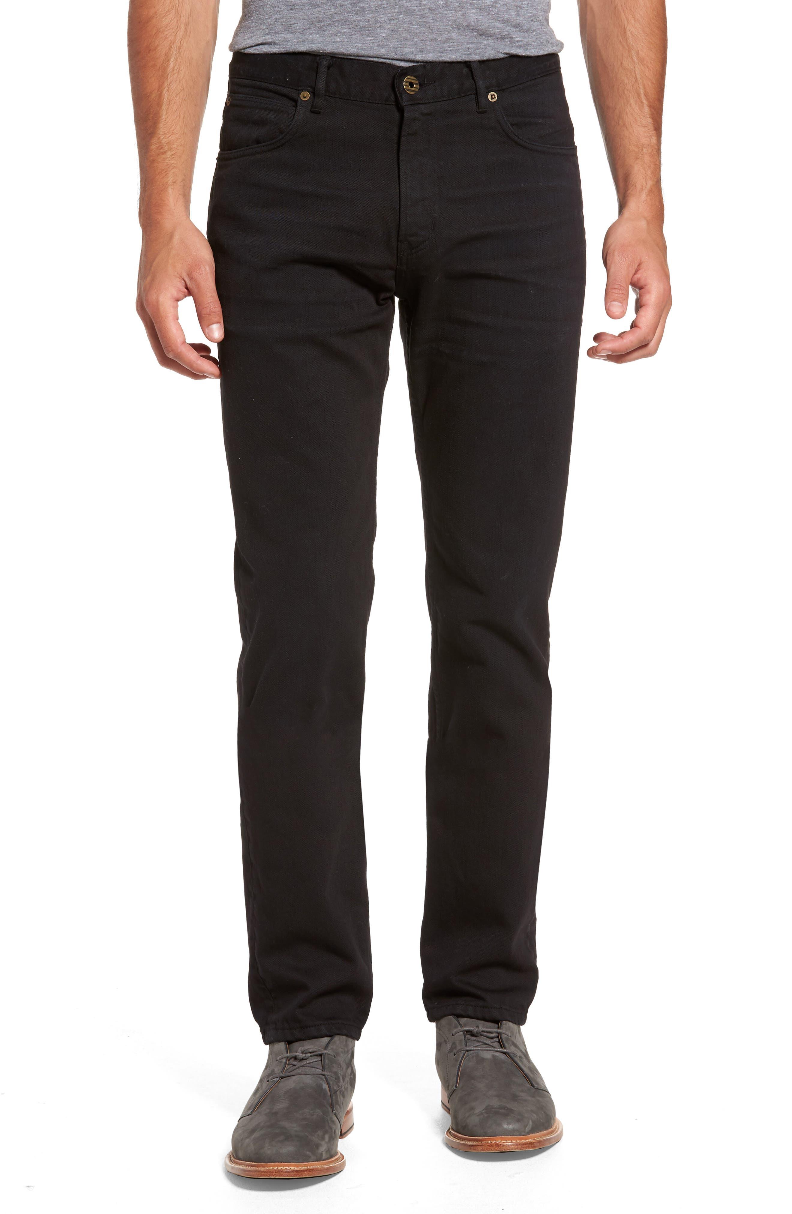 Slim Straight Leg Pants,                         Main,                         color, 001