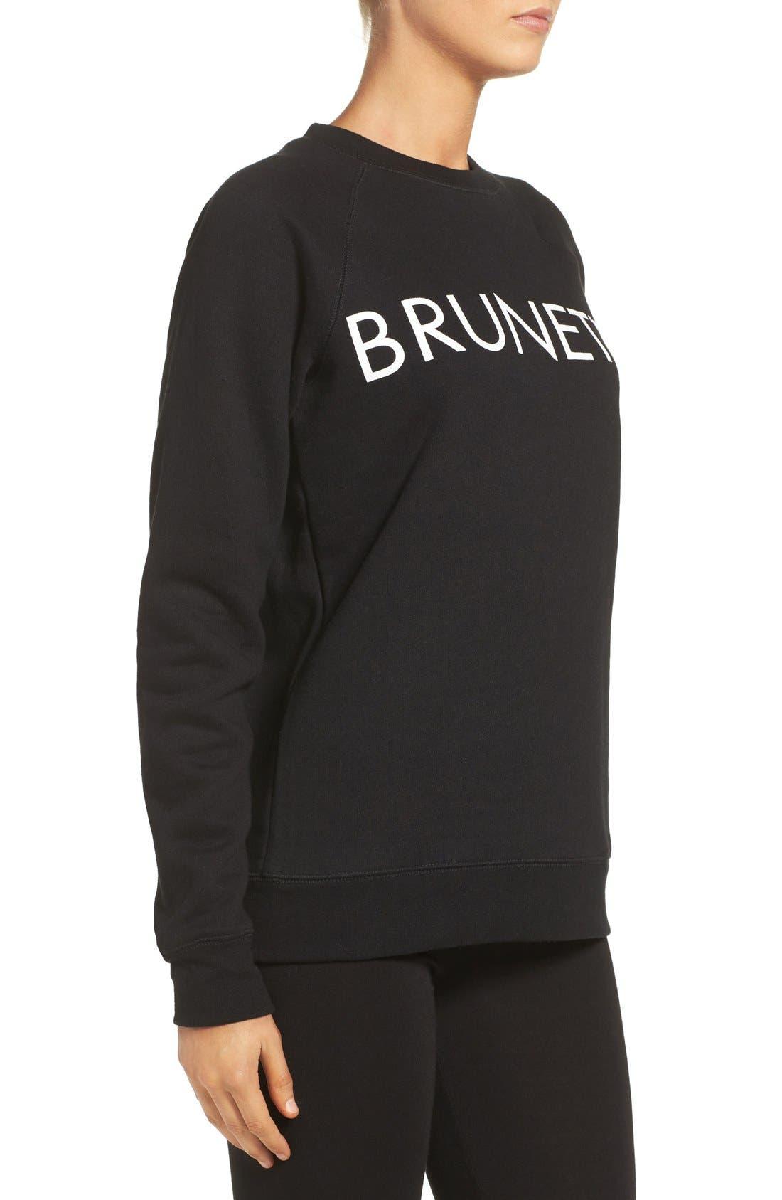 Brunette Crewneck Sweatshirt,                             Alternate thumbnail 10, color,                             001